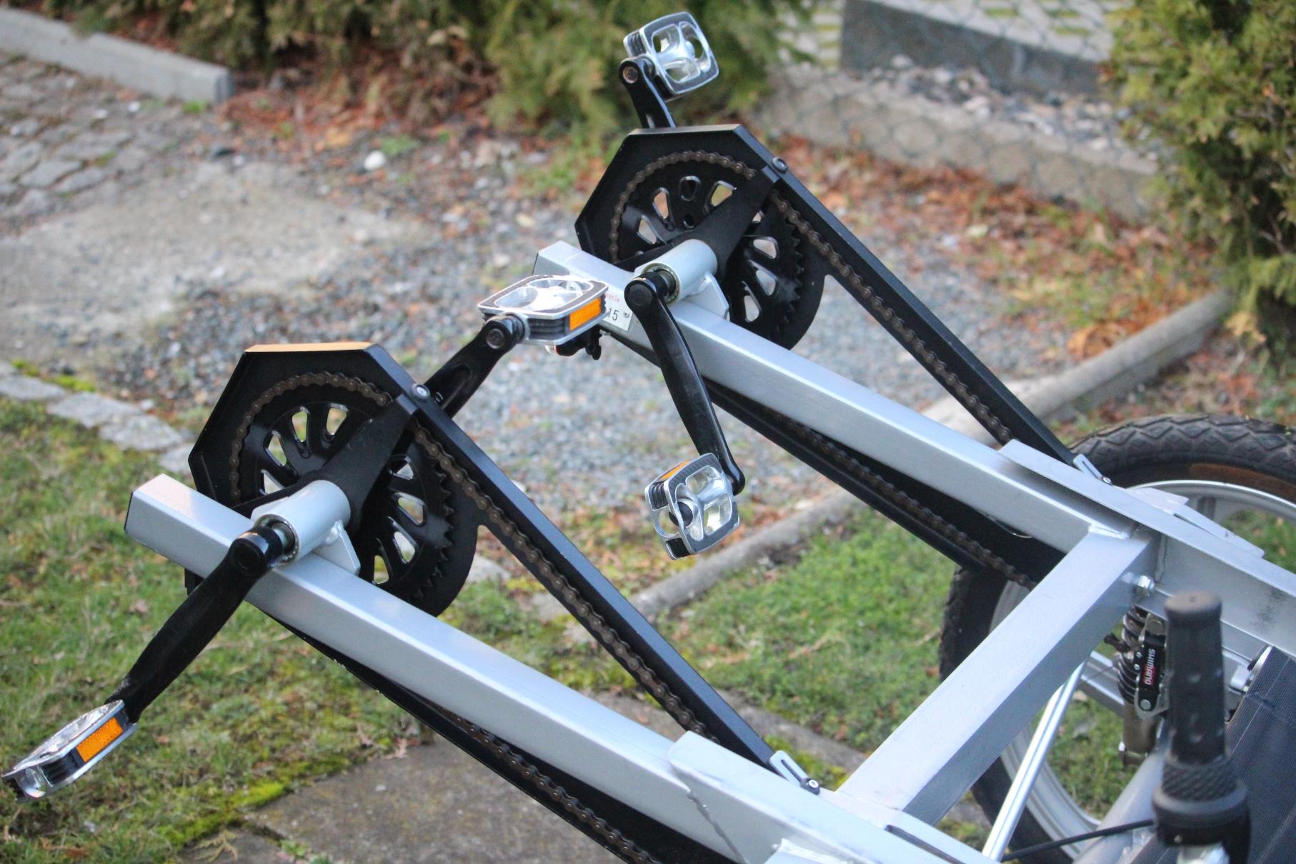 original quattro cycle tret fahrrad liegerad hochwertiges. Black Bedroom Furniture Sets. Home Design Ideas