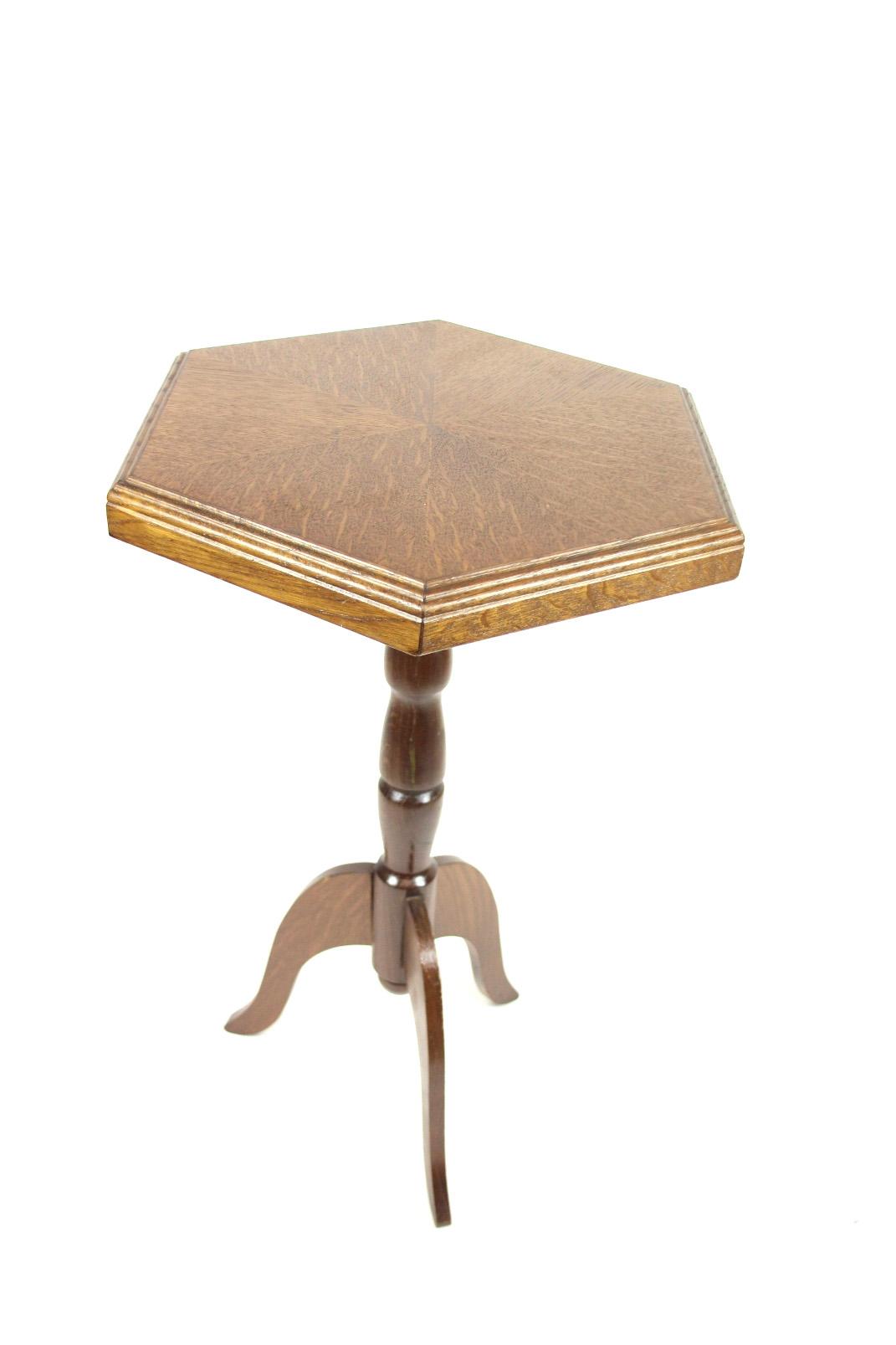 helmut cybinski beistelltisch 6 eck ddr beistell tisch. Black Bedroom Furniture Sets. Home Design Ideas
