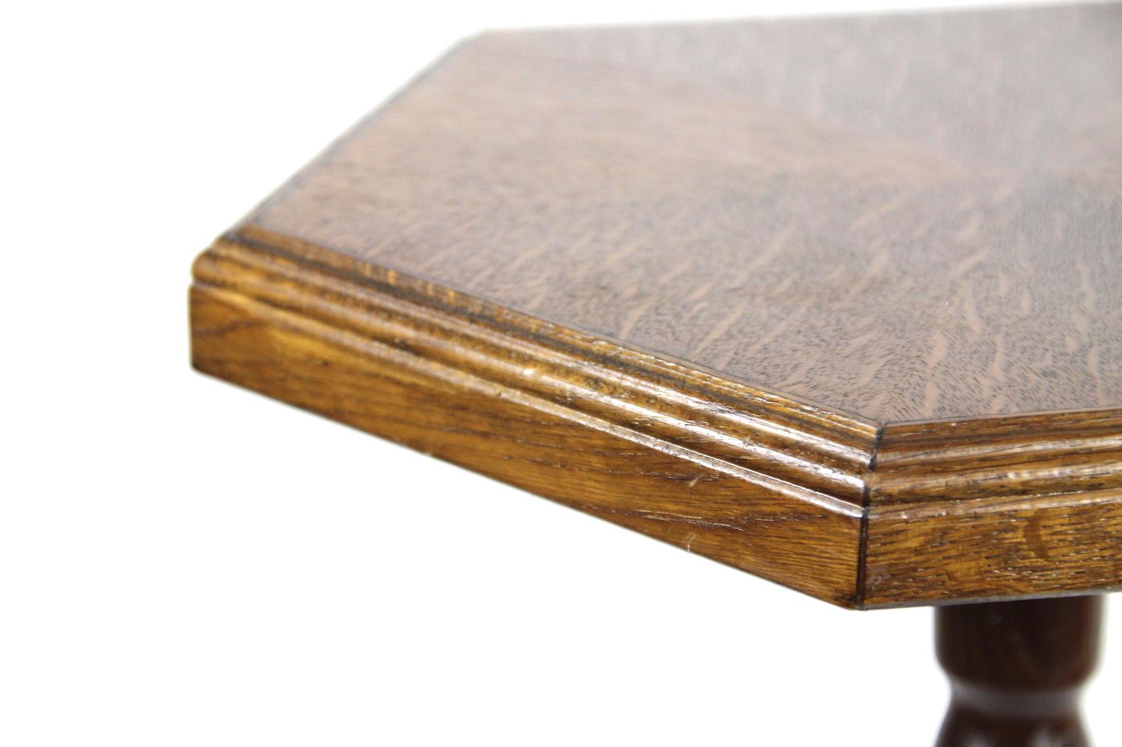 helmut cybinski beistelltisch 6 eck ddr beistell tisch blumentisch eiche esche ebay. Black Bedroom Furniture Sets. Home Design Ideas
