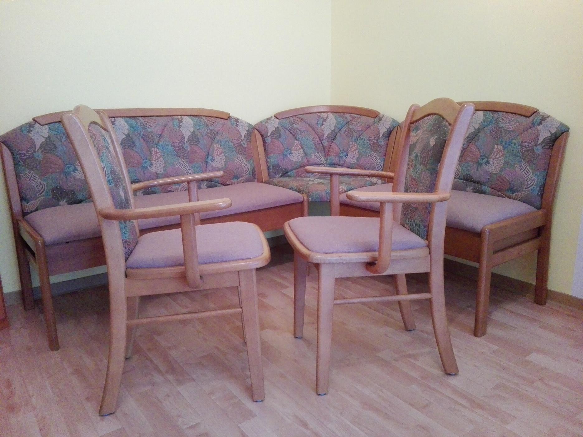 truhen eckbank 2 st hle buche erlefarbig 151x191 cm. Black Bedroom Furniture Sets. Home Design Ideas