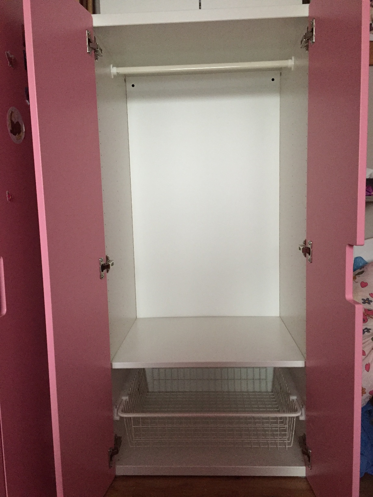 ikea stuva kinder kleiderschrank 128x60x50 cm w scheschrank schrank pink weiss ebay. Black Bedroom Furniture Sets. Home Design Ideas