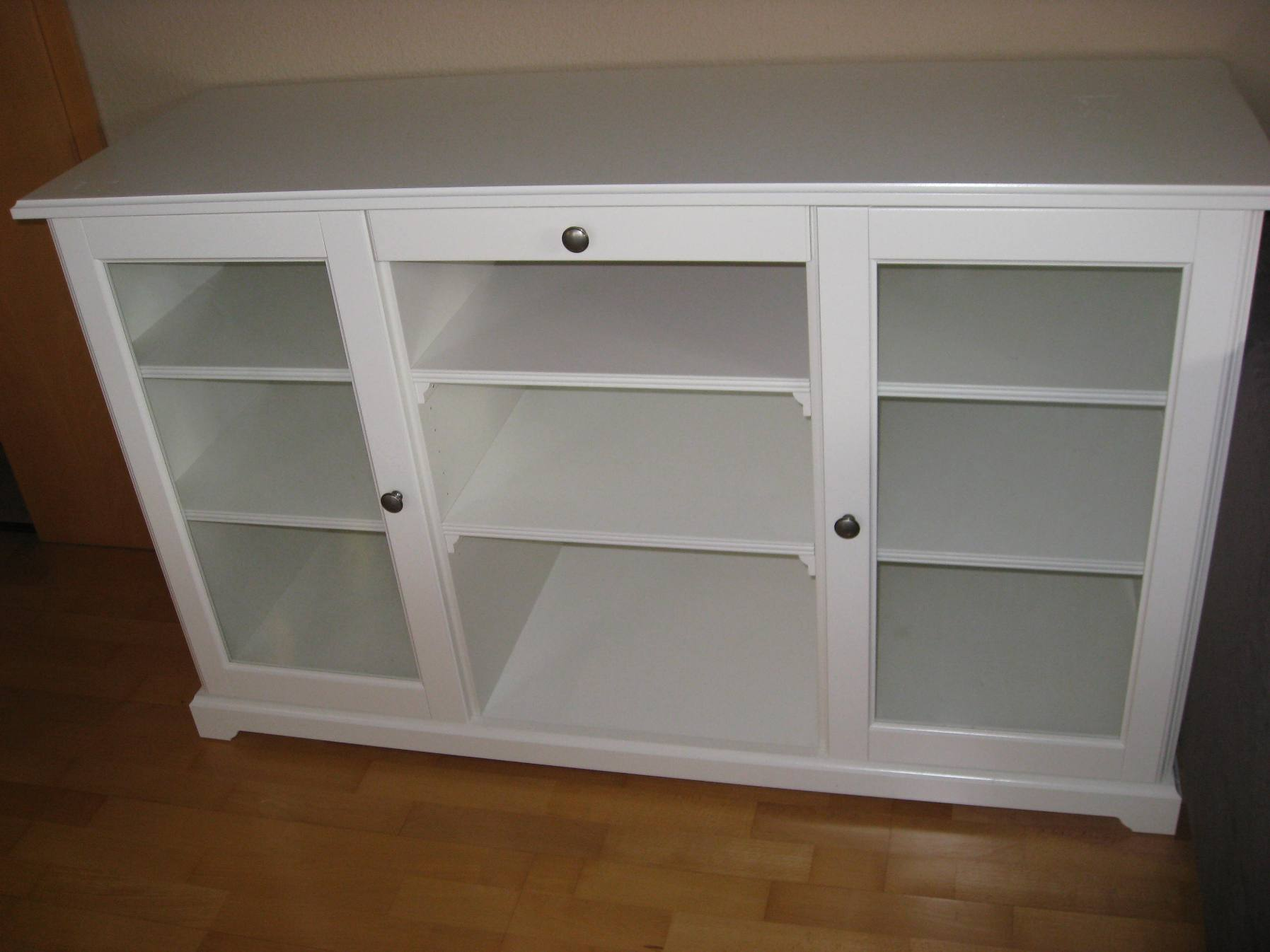 modernes ikea liatorp sideboard tv schrank 87x48x145 cm medienschrank glas weiss ebay. Black Bedroom Furniture Sets. Home Design Ideas