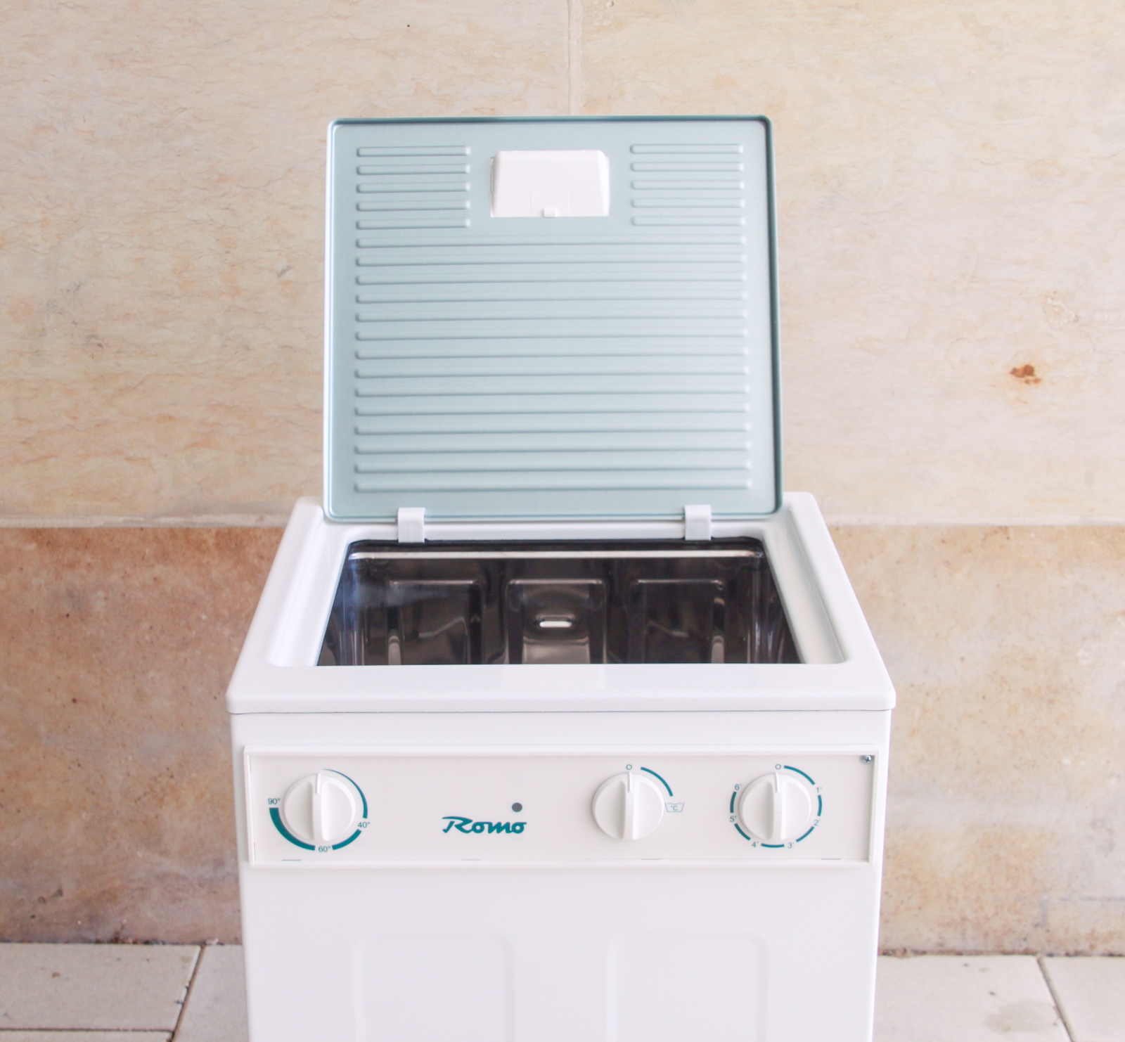 romo r 190 1 welenrad waschmaschine camping garten ohne. Black Bedroom Furniture Sets. Home Design Ideas