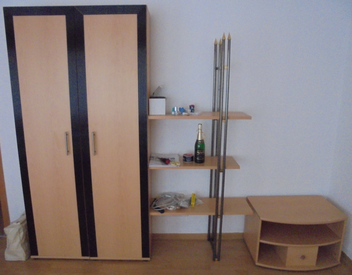wandschrank buche hell regal tv schrank board wohnzimmer kleider schrank set ebay. Black Bedroom Furniture Sets. Home Design Ideas