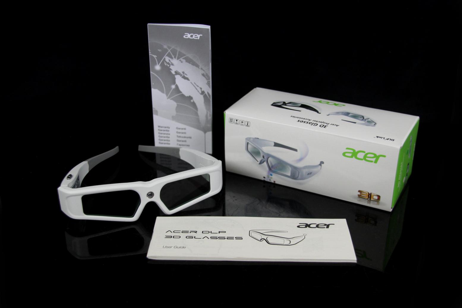 acer e2w v2 dlp 3d shutterbrille f r 3d beamer brille. Black Bedroom Furniture Sets. Home Design Ideas