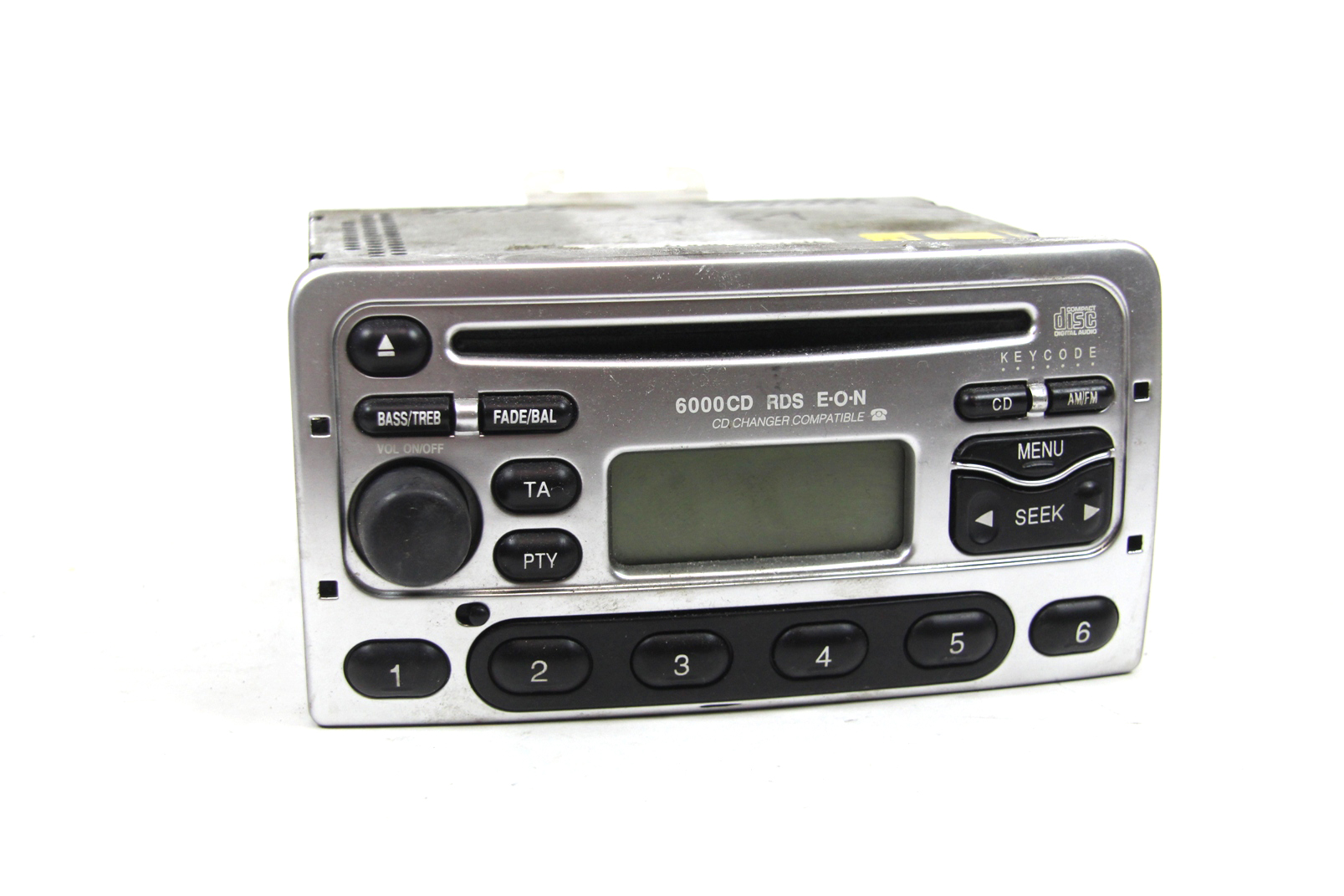 original ford autoradio 6000 cd rds silber mit code focus mondeo fiesta transit ebay. Black Bedroom Furniture Sets. Home Design Ideas