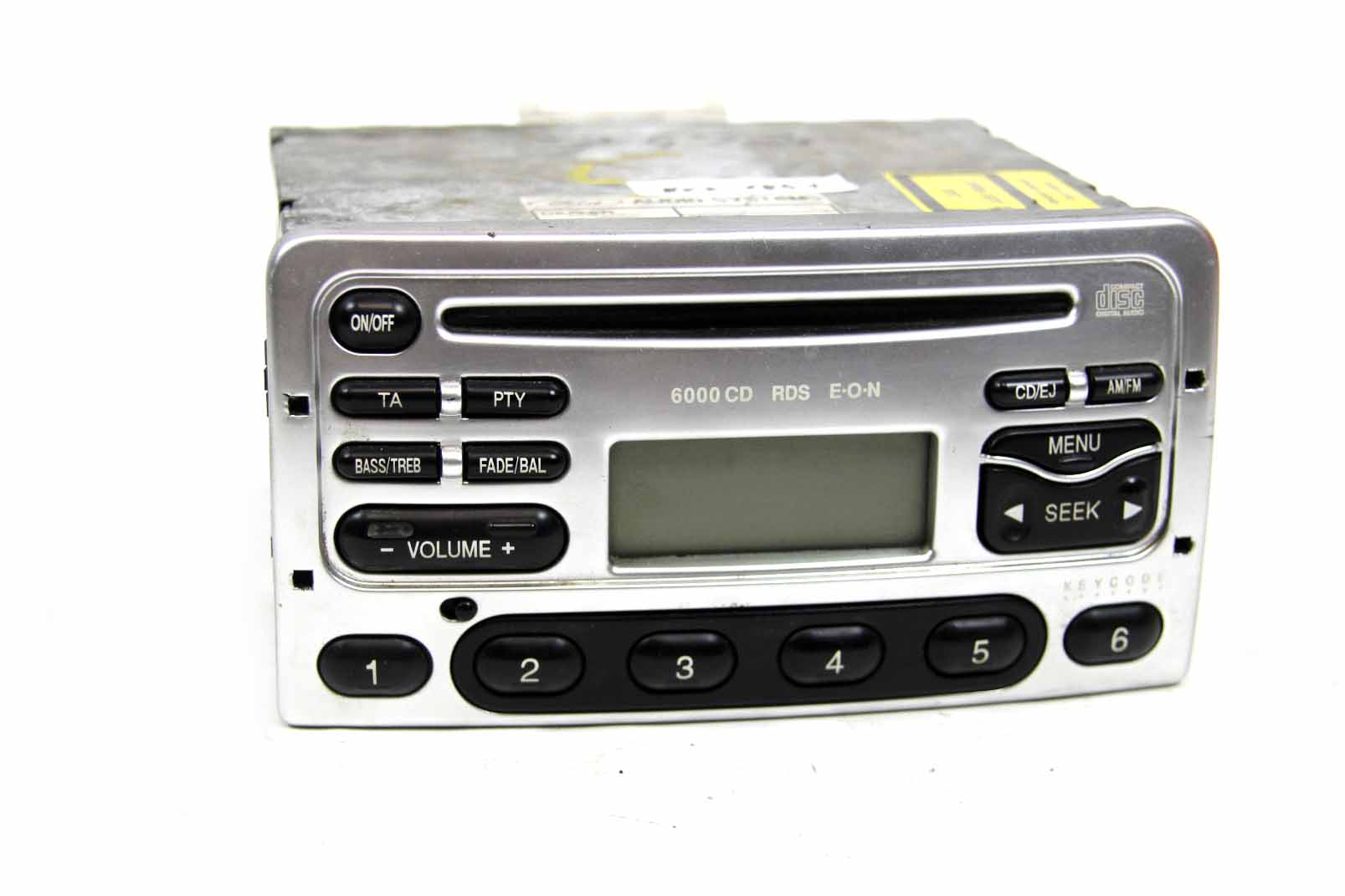 ford autoradio 6000 cd rds silber mit code focus transit galaxy mondeo fiesta ebay. Black Bedroom Furniture Sets. Home Design Ideas