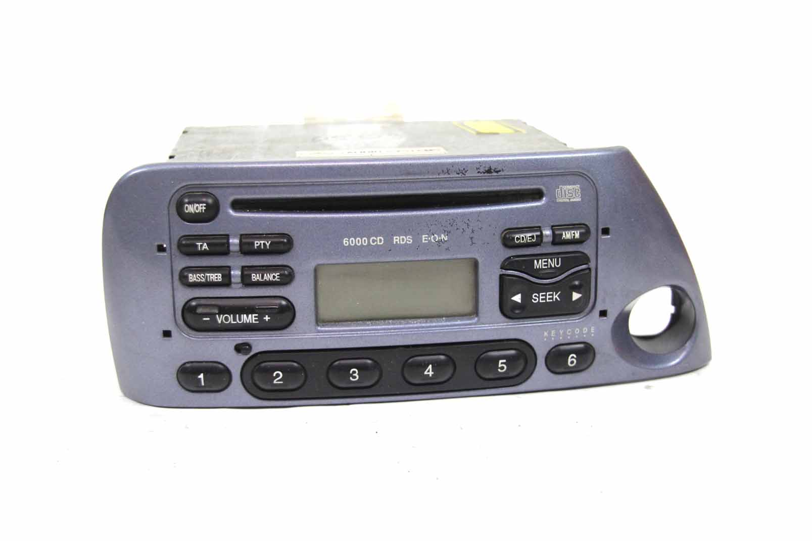 ford ka autoradio 6000 cd rds e o n blau metallic code 97kp 18c815 db m031079 ebay. Black Bedroom Furniture Sets. Home Design Ideas