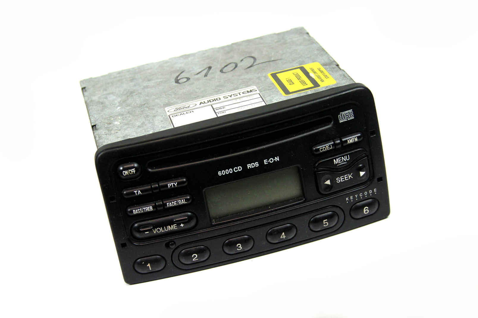 original ford autoradio 6000 cd rds inkl code focus mondeo fiesta transit galaxy ebay. Black Bedroom Furniture Sets. Home Design Ideas