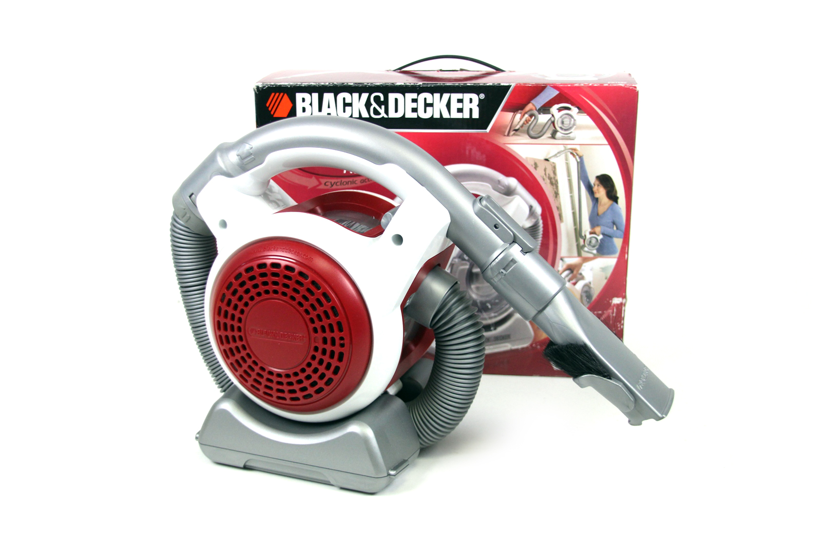black decker dustbuster flexi pd1080 akku handstaubsauger cyclon handsauger ebay. Black Bedroom Furniture Sets. Home Design Ideas