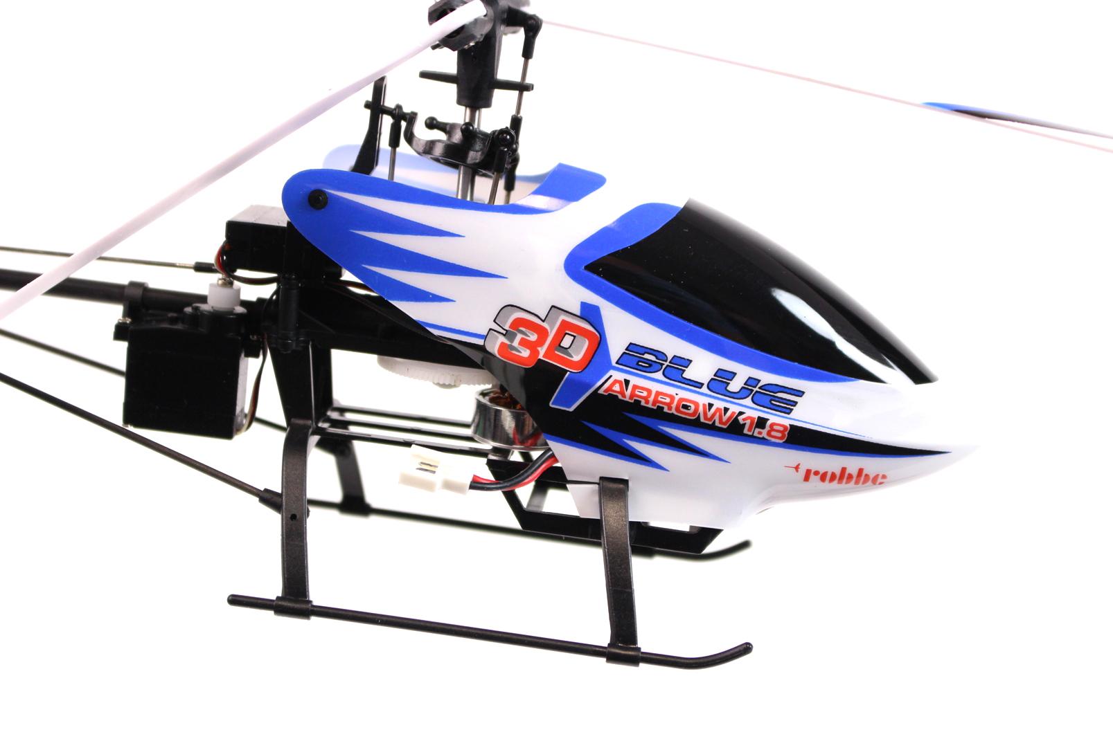robbe blue arrow 1 8 3d mini hubschrauber 2 4 ghz 4 servos helicopter heli ovp ebay. Black Bedroom Furniture Sets. Home Design Ideas