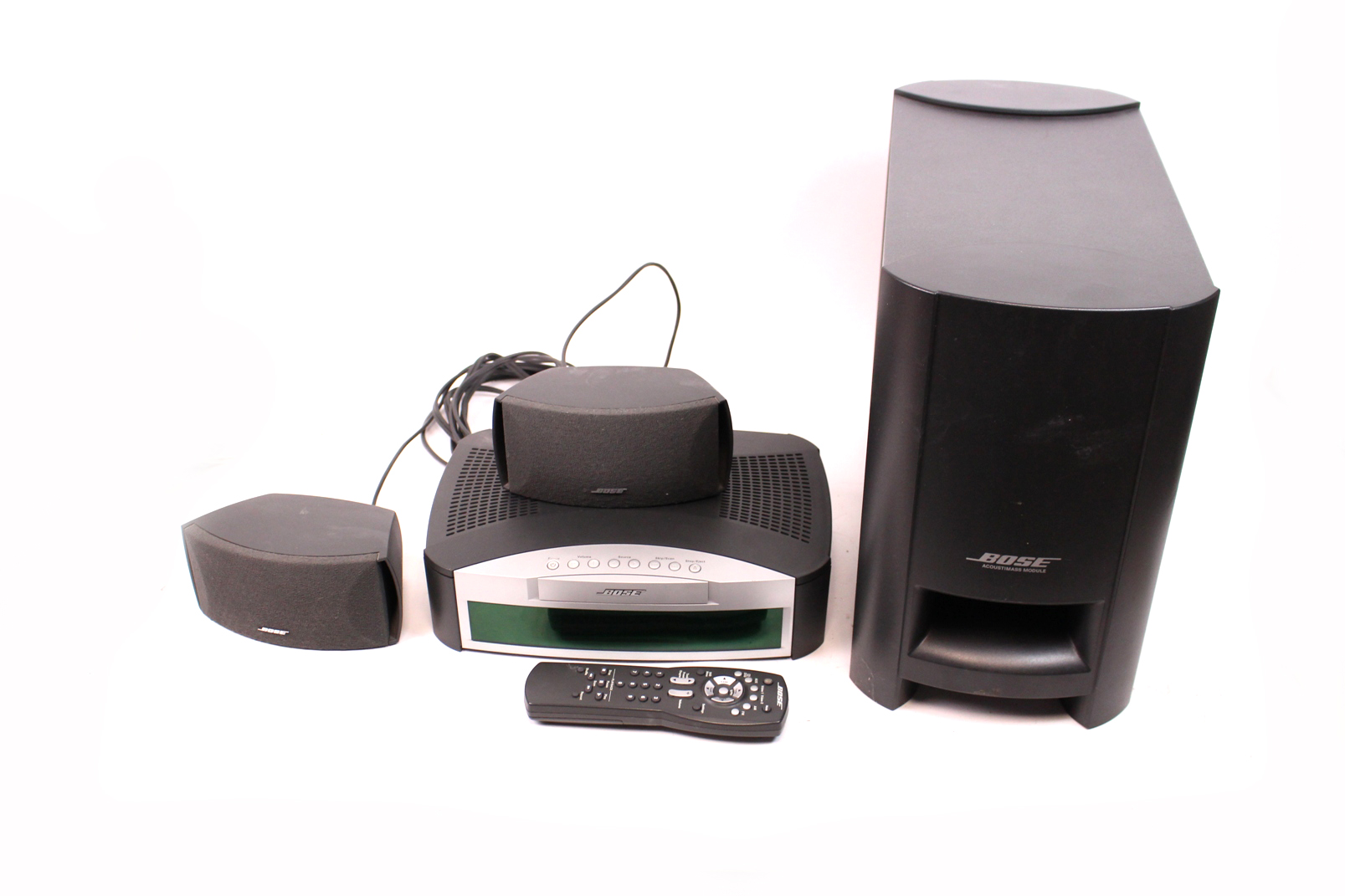 bose 3 2 1 heimkino system anlage cd dvd player ps subwoofer satelliten boxen ebay. Black Bedroom Furniture Sets. Home Design Ideas