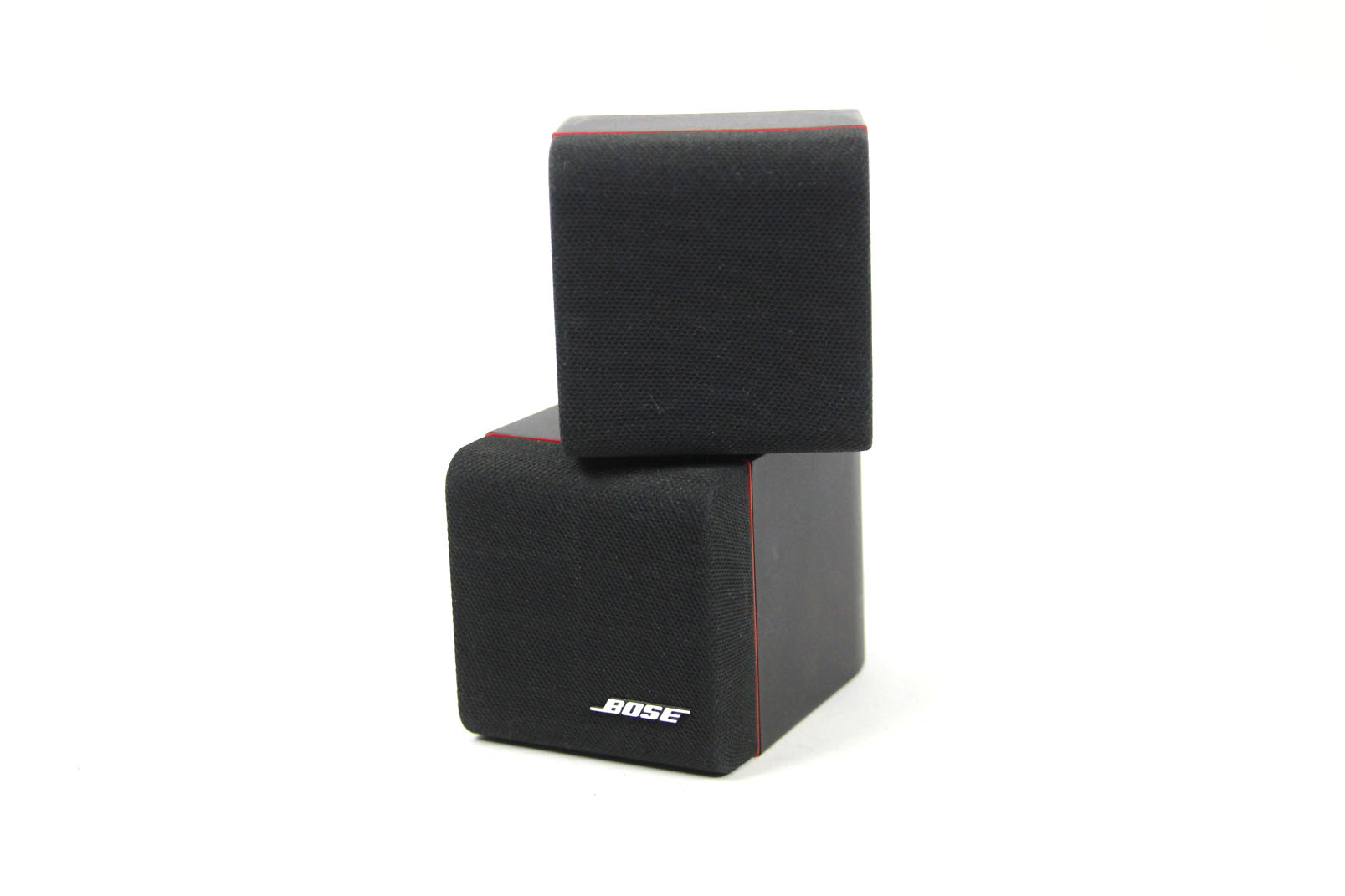 bose stereo lautsprecher acoustimass speaker doppel cube satelliten box black ebay. Black Bedroom Furniture Sets. Home Design Ideas