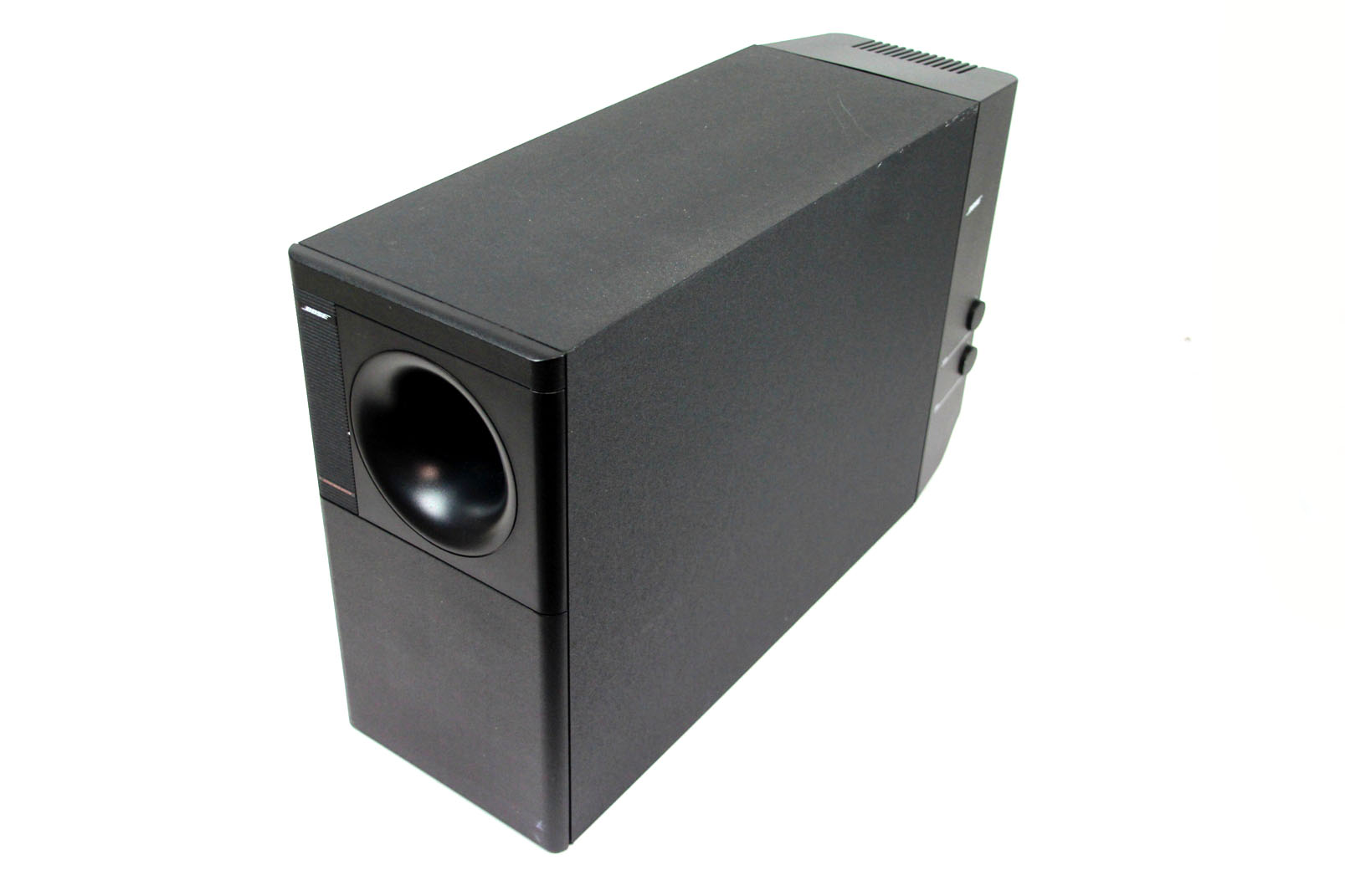 bose aktiv subwoofer bassbox lautsprecher powered acoustimass 9 speaker system ebay. Black Bedroom Furniture Sets. Home Design Ideas