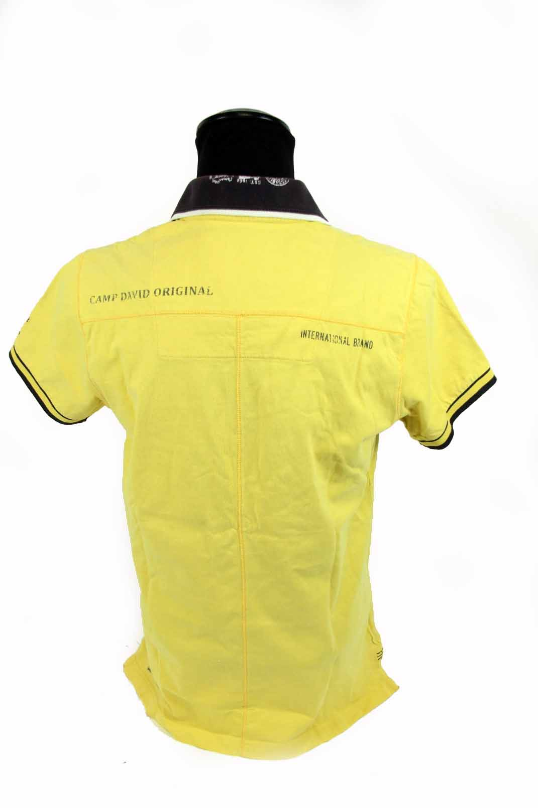 original camp david herren poloshirt gr m gelb t shirt kurzarm polo shirt ebay. Black Bedroom Furniture Sets. Home Design Ideas