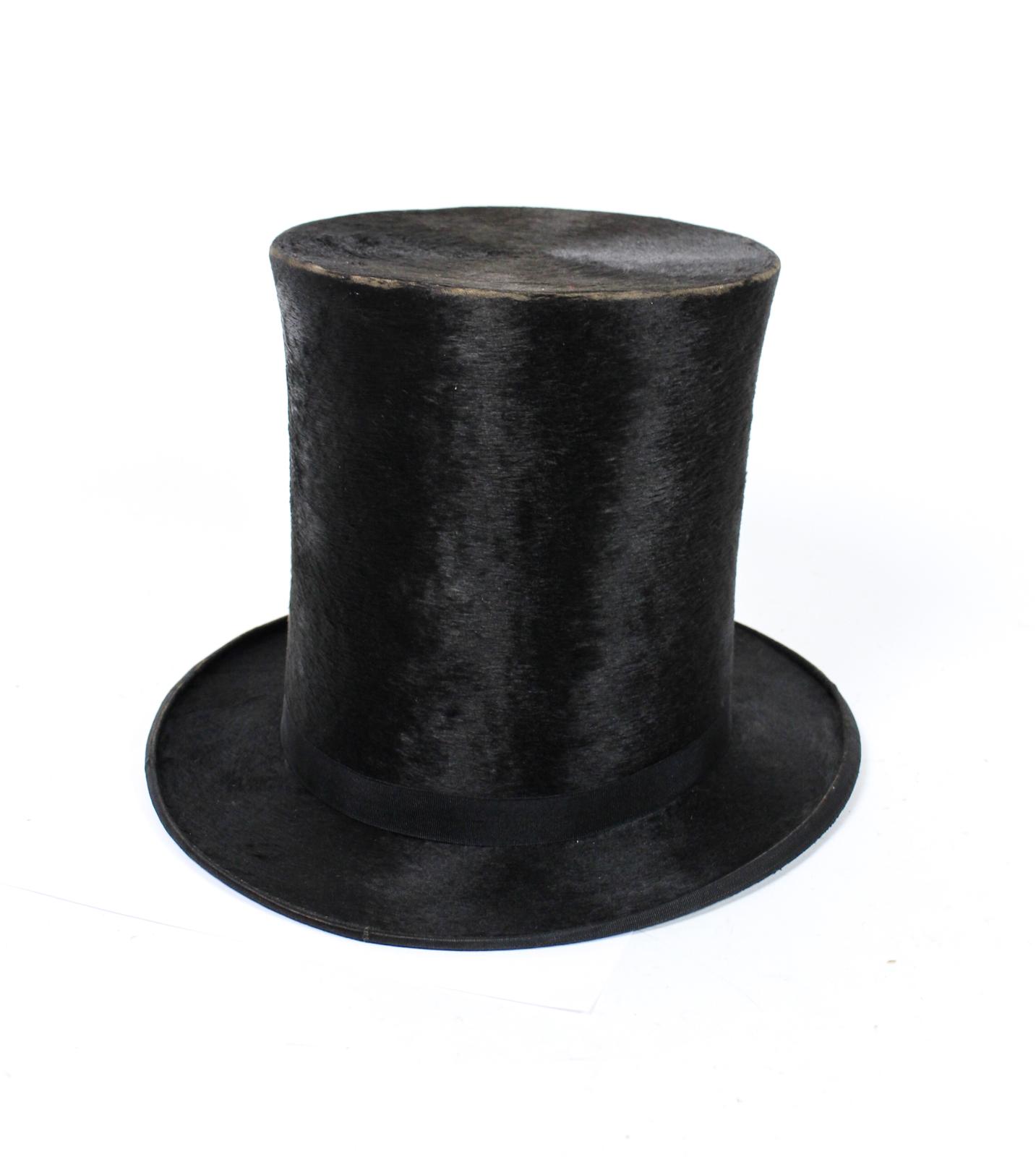 antiker herren zylinder maulwurffell bezug herrenhut. Black Bedroom Furniture Sets. Home Design Ideas