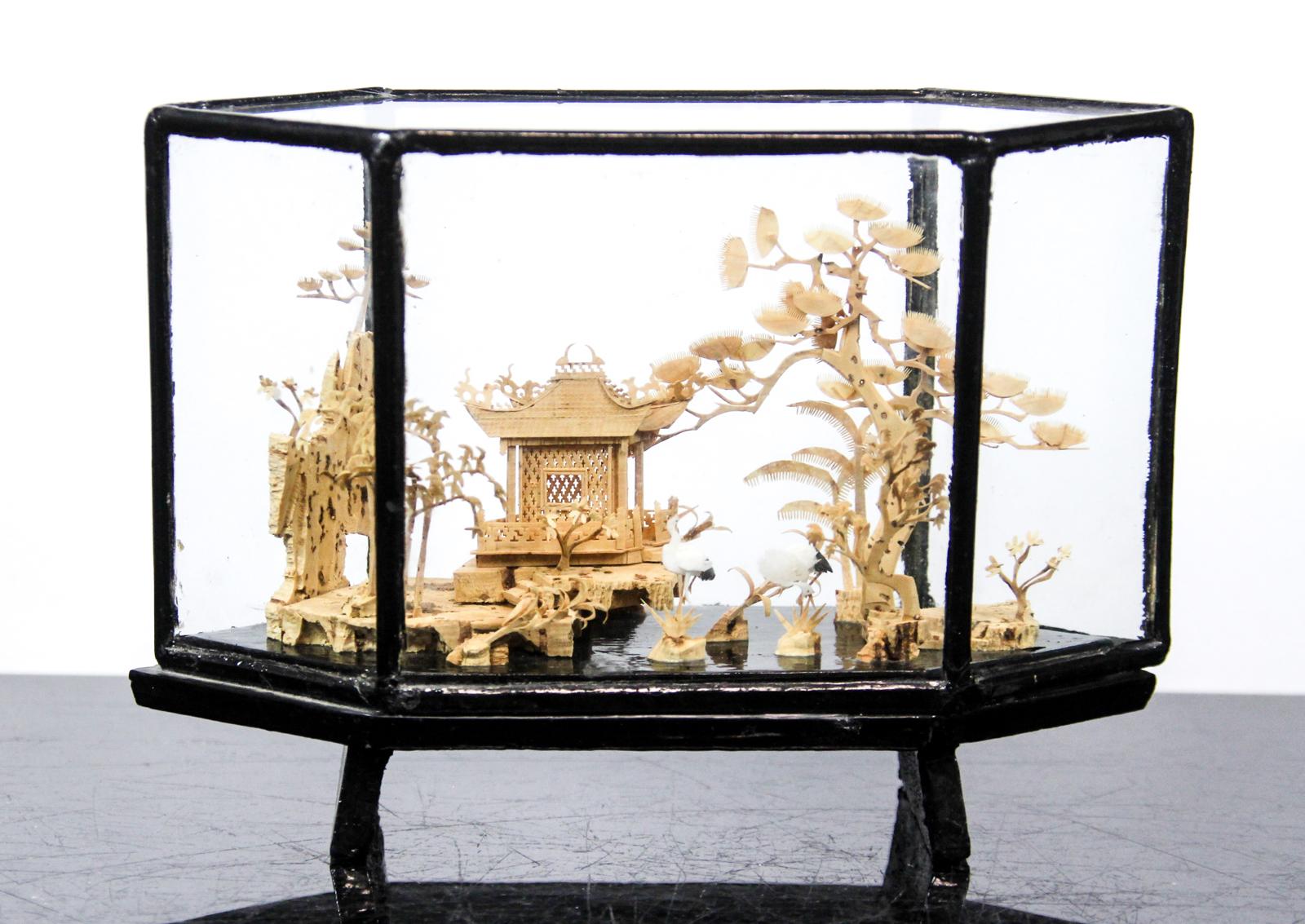 antike chinesische korkschnitzerei schnitzkunst china. Black Bedroom Furniture Sets. Home Design Ideas