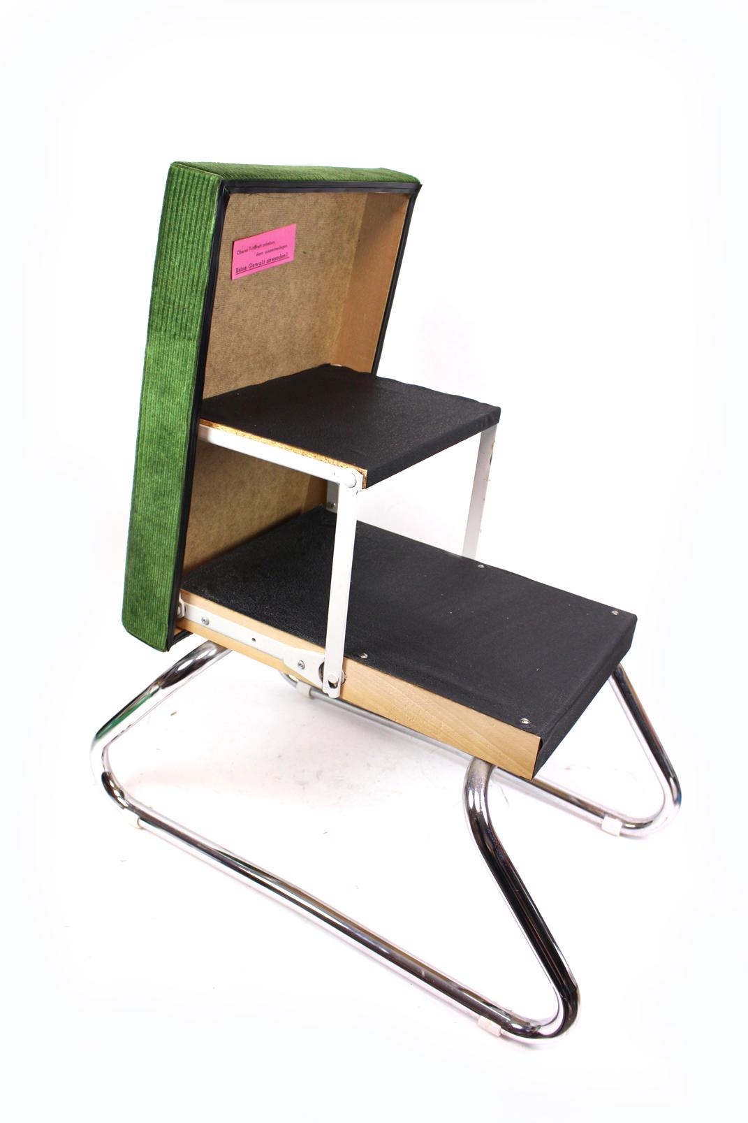alter ddr stufenhocker gr n trittleiter polsterhocker fu bank hocker leiter. Black Bedroom Furniture Sets. Home Design Ideas