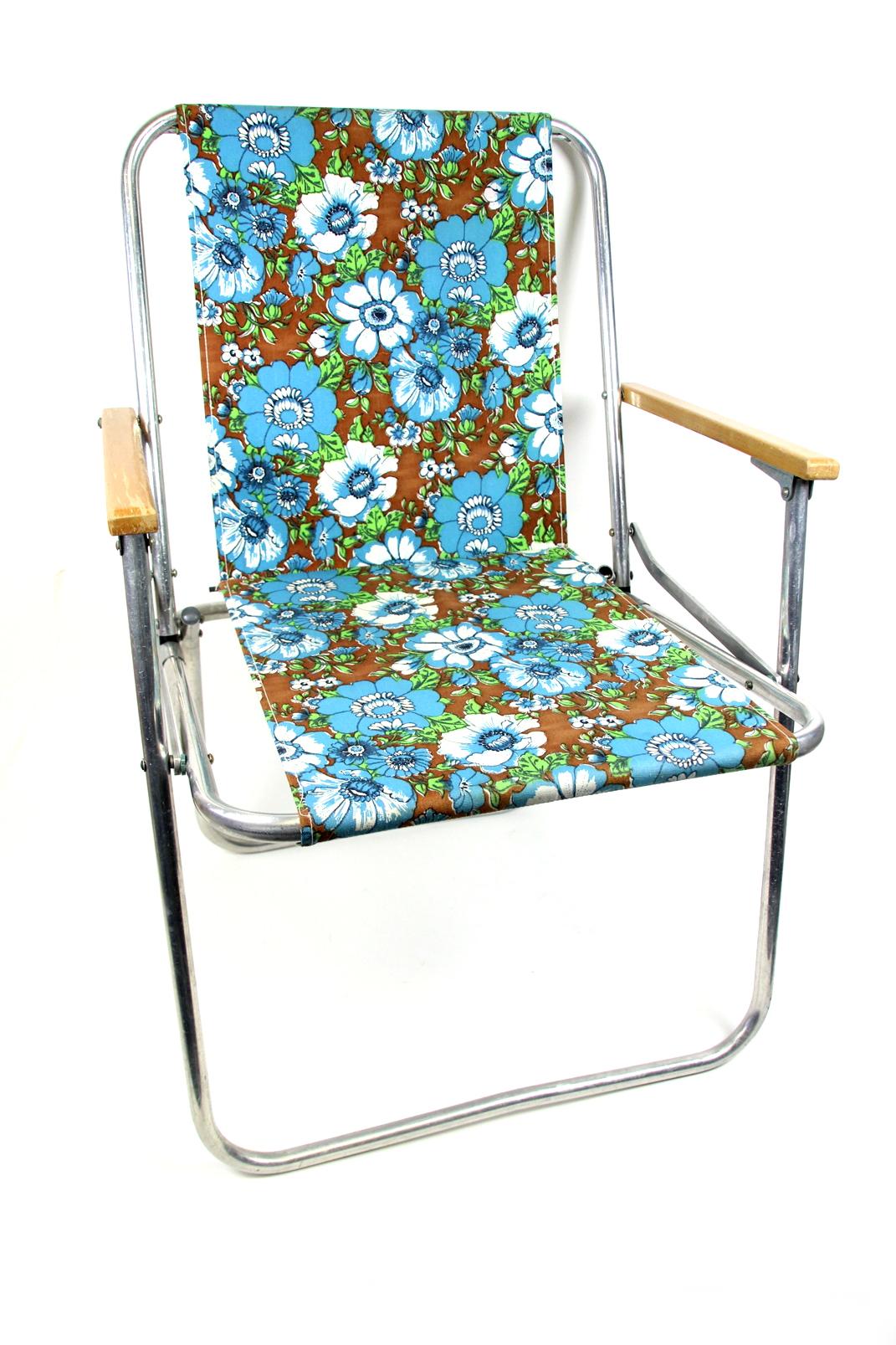 ddr campingstuhl retro 70er jahre blumen camping klapp. Black Bedroom Furniture Sets. Home Design Ideas