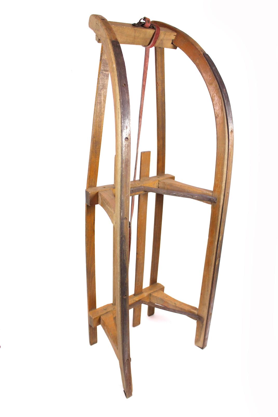 alter holzschlitten 100 cm lang 4 streben holzrodel rodel. Black Bedroom Furniture Sets. Home Design Ideas