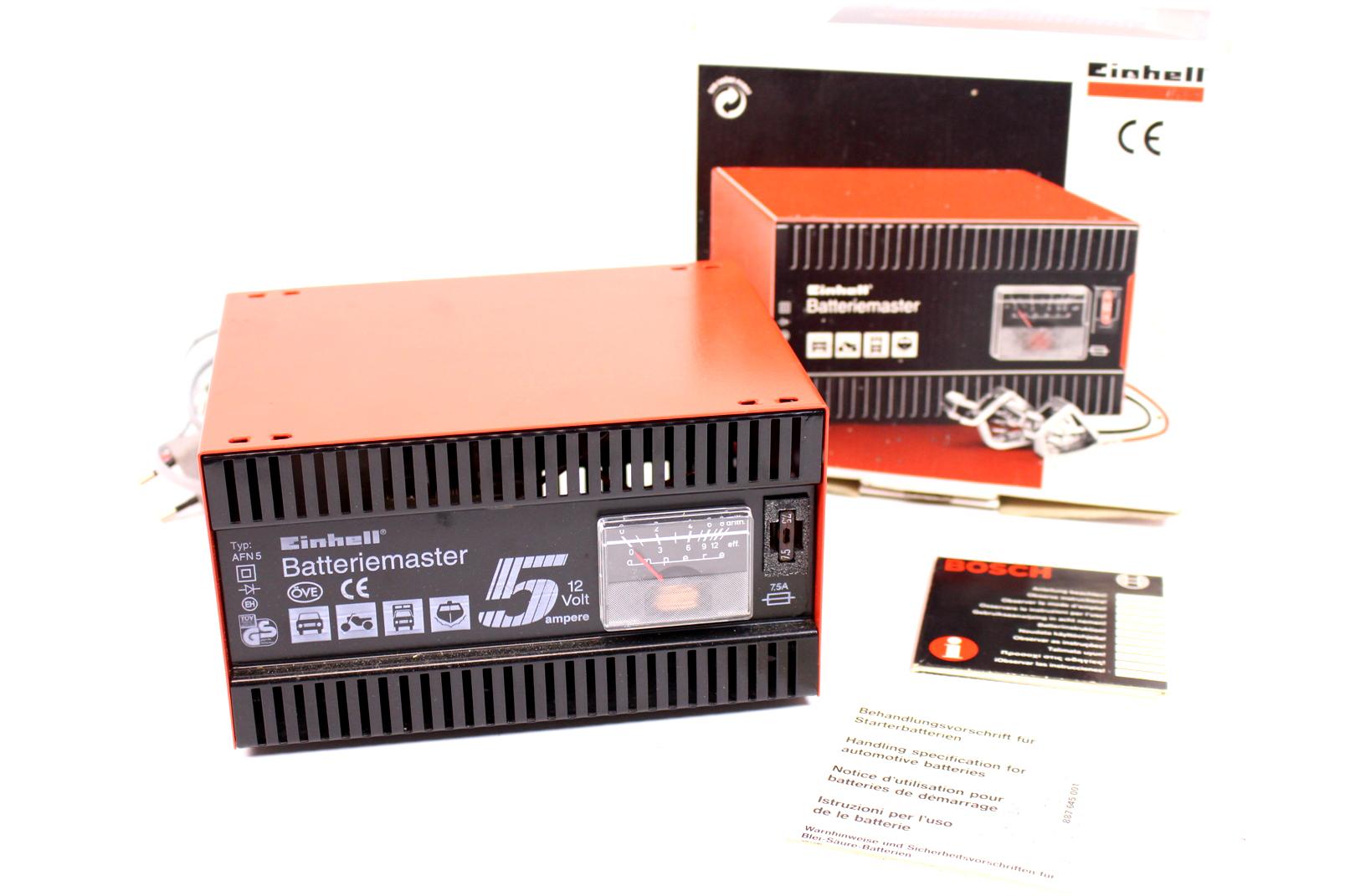 einhell batteriemaster afn5 12v 5 ampere auto kfz batterie. Black Bedroom Furniture Sets. Home Design Ideas
