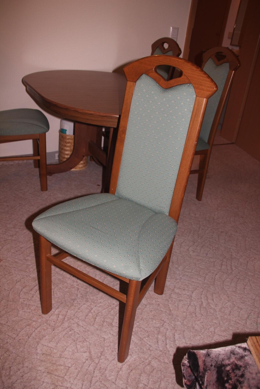 5 tlg essgruppe ausziehbarer esstisch 4 st hle mahagonifarben landhaus vintage. Black Bedroom Furniture Sets. Home Design Ideas