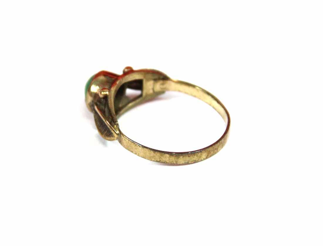 antiker fingerring damenring gr 54 goldring 333er gold t rkis ring art deco ebay. Black Bedroom Furniture Sets. Home Design Ideas