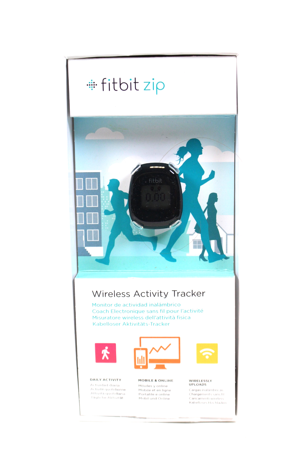 fitbit zip aktivit ts fitness tracker anthrazit armband. Black Bedroom Furniture Sets. Home Design Ideas