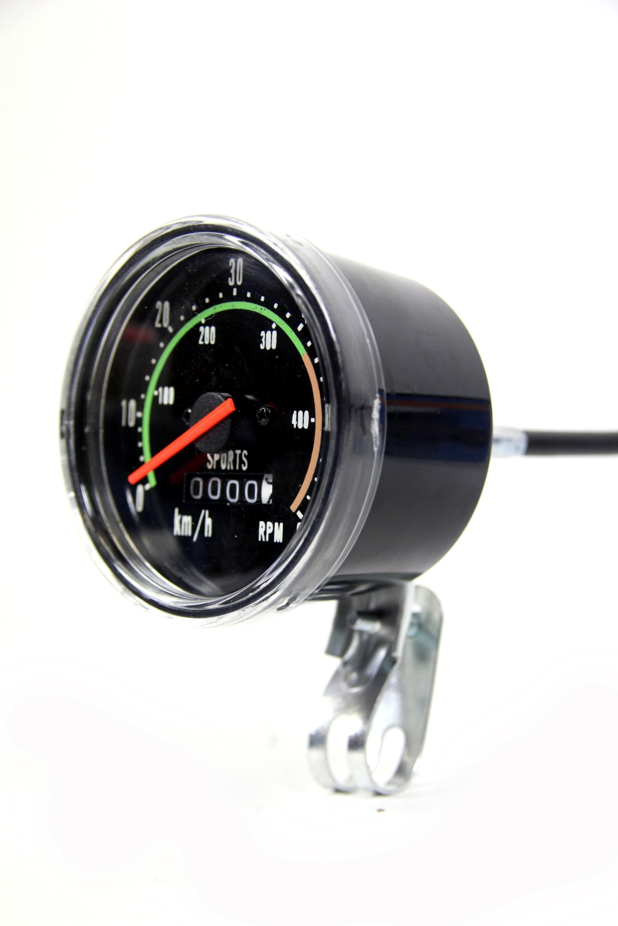 tachometer 80 mm analog 28 zoll fahrrad im retro look km h. Black Bedroom Furniture Sets. Home Design Ideas