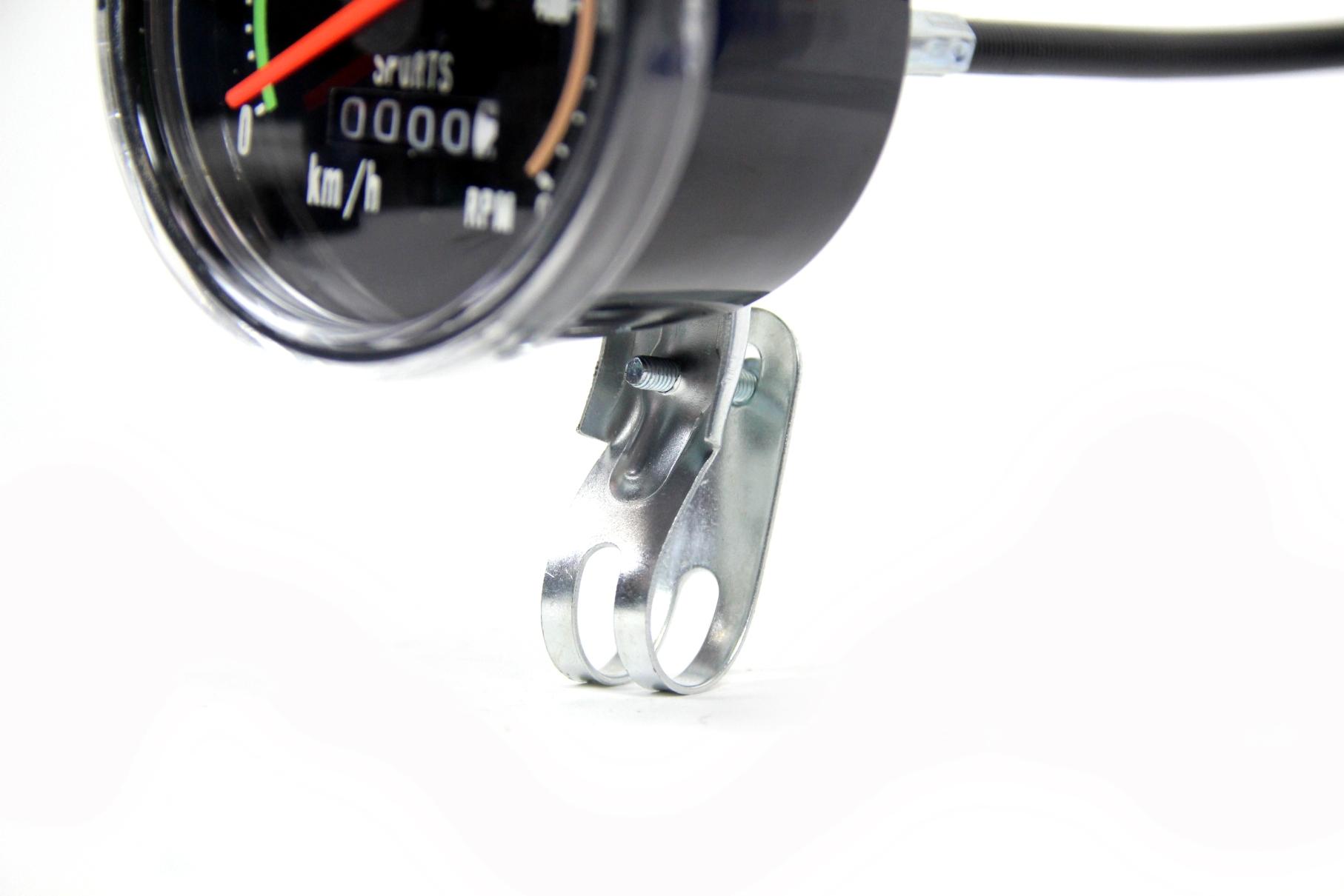 tachometer 80 mm analog 28 zoll fahrrad im retro look km h rpm tacho computer. Black Bedroom Furniture Sets. Home Design Ideas