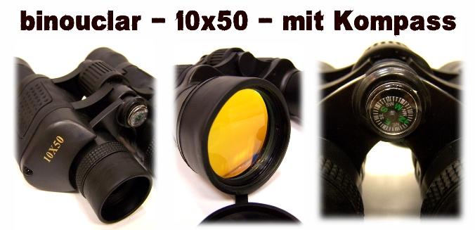 10x50 fernglas binocular mit kompass feldstecher sto fest tasche ebay. Black Bedroom Furniture Sets. Home Design Ideas