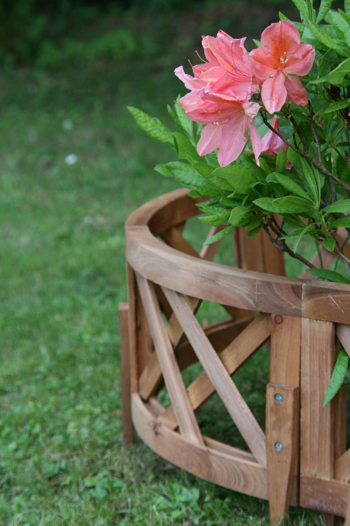 6 tlg Gartenzaun NATUR Pflanzenbegrenzung Beetzaun Beeteinfassung