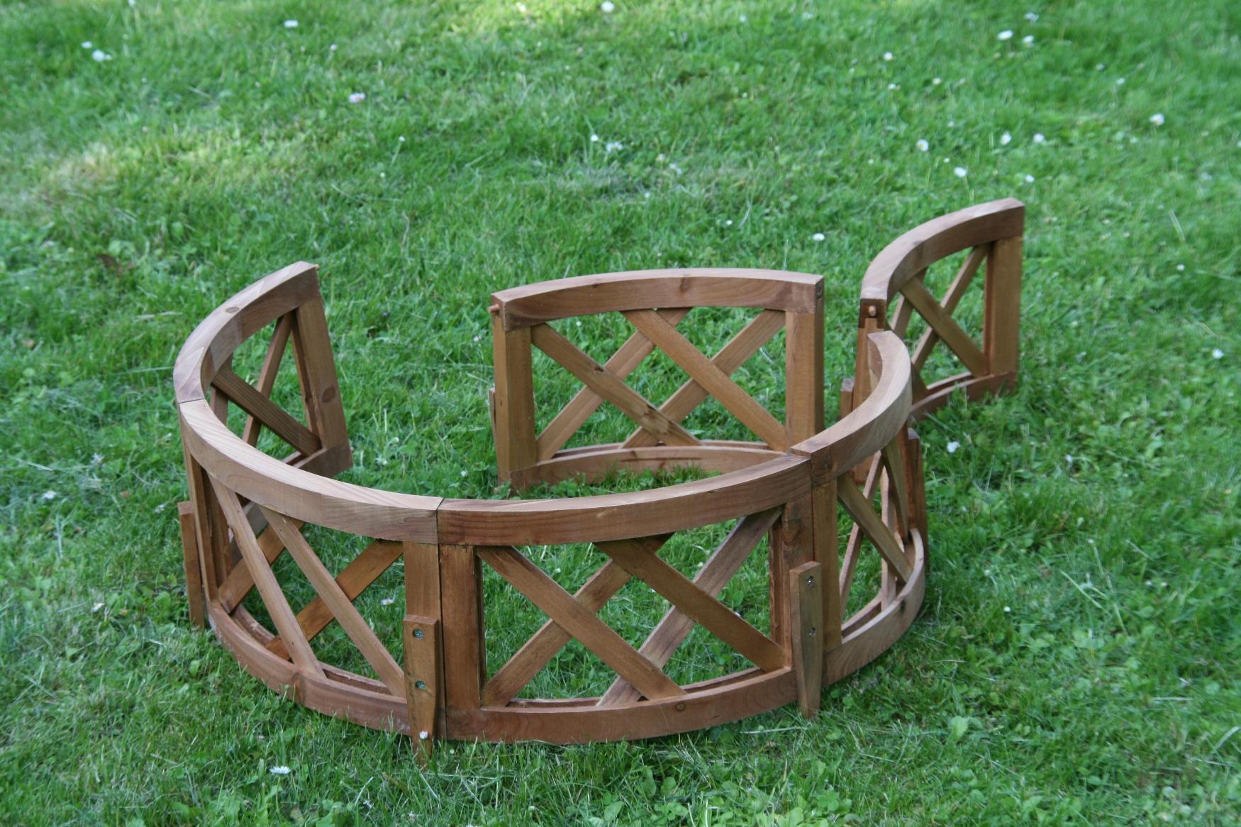 6 tlg gartenzaun natur pflanzenbegrenzung beetzaun. Black Bedroom Furniture Sets. Home Design Ideas
