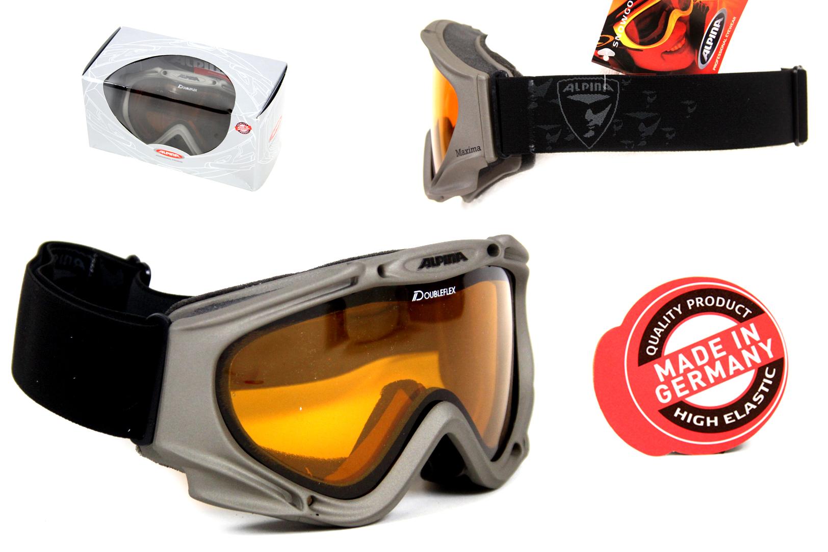 alpina maxima ski snowboard brille doubleflex 100 uva b c. Black Bedroom Furniture Sets. Home Design Ideas