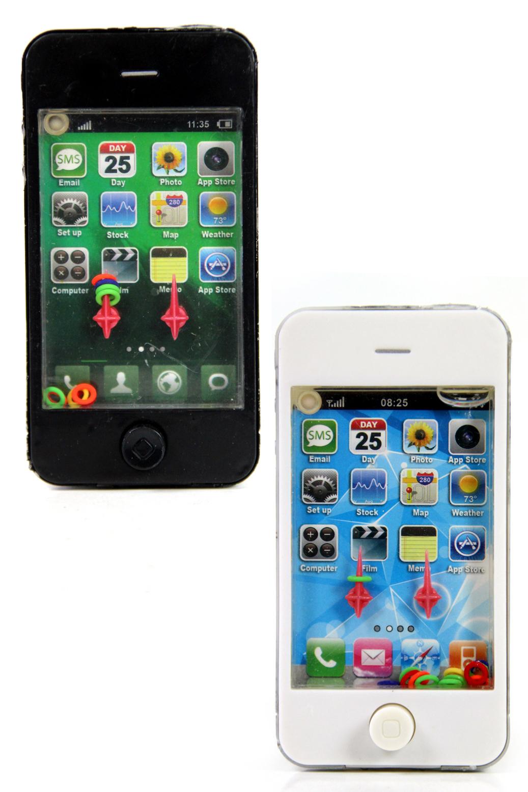 Spielzeug smartphone wasserspiel geduldspiel schwarz