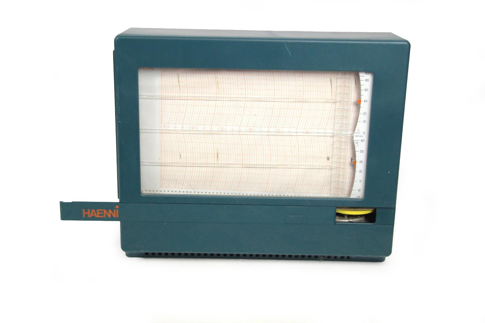 haenni thermo hygrograph 7 tage 24h wetterstation temperatur trommel schreiber ebay. Black Bedroom Furniture Sets. Home Design Ideas