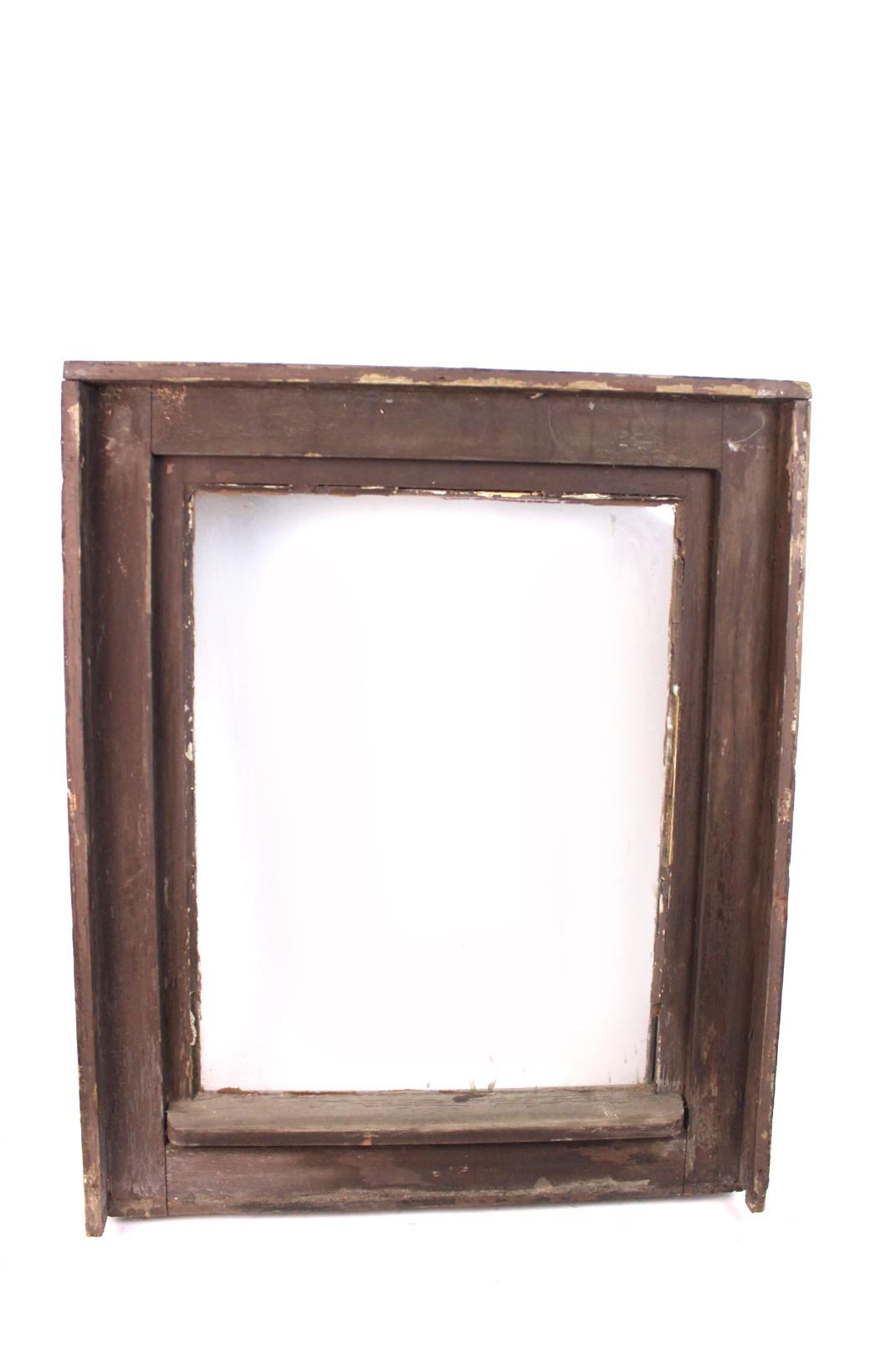 altes holzfenster m einbaurahmen 75x61cm holzfenster holz rahmen glas z ffnen ebay. Black Bedroom Furniture Sets. Home Design Ideas