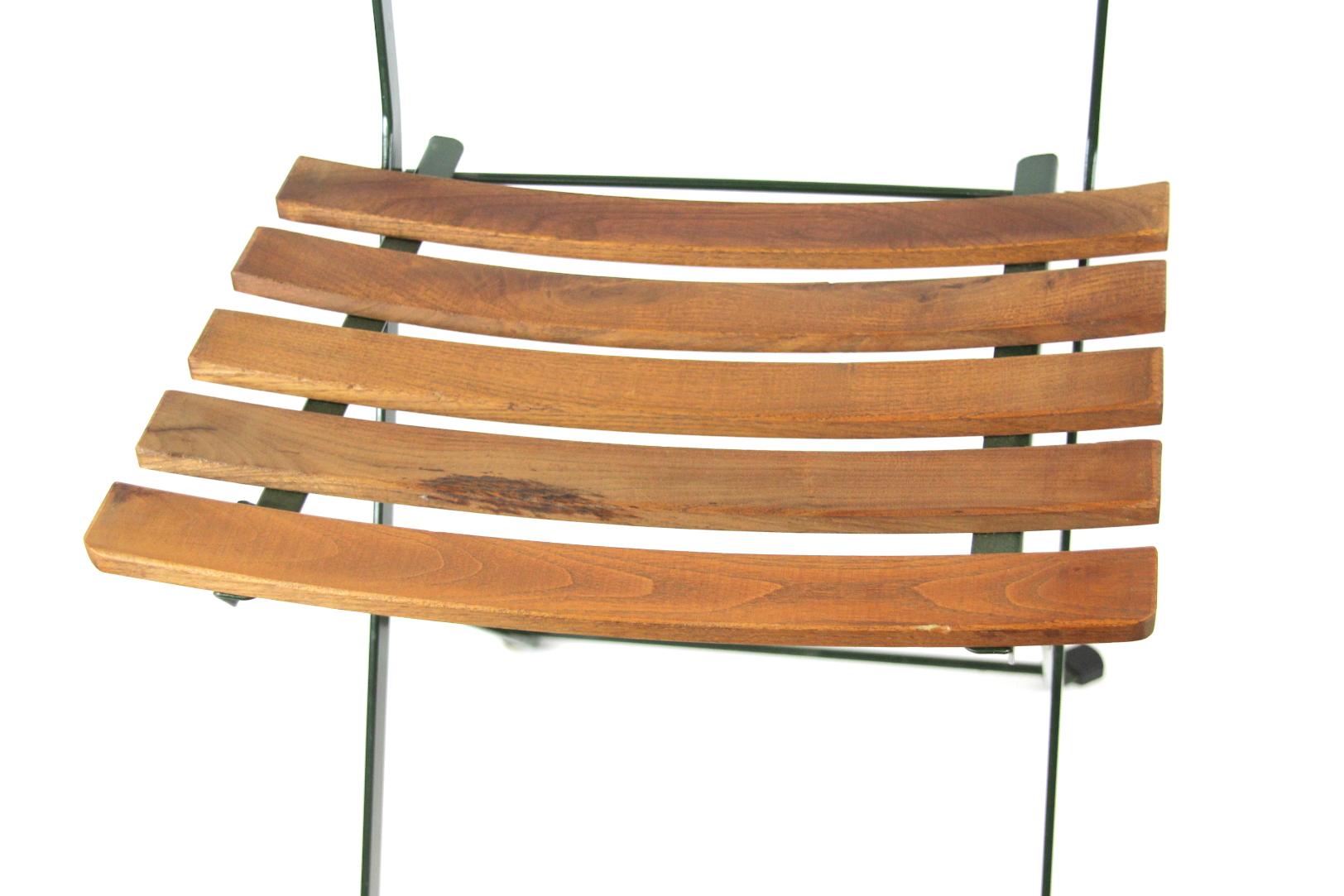bequemer klappstuhl m sitzauflage 42x43x84 cm garten stuhl holz metall terrasse ebay. Black Bedroom Furniture Sets. Home Design Ideas