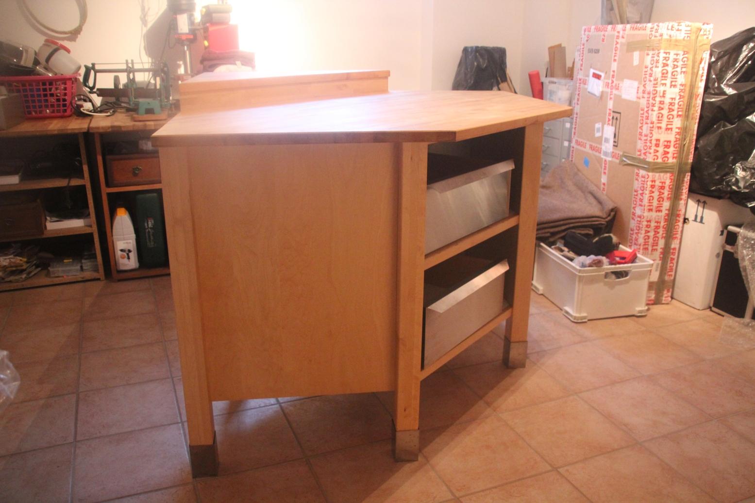 ikea v rde k chenschrank eckmodul eckschrank eckelement birke inkl 2 schubladen ebay. Black Bedroom Furniture Sets. Home Design Ideas