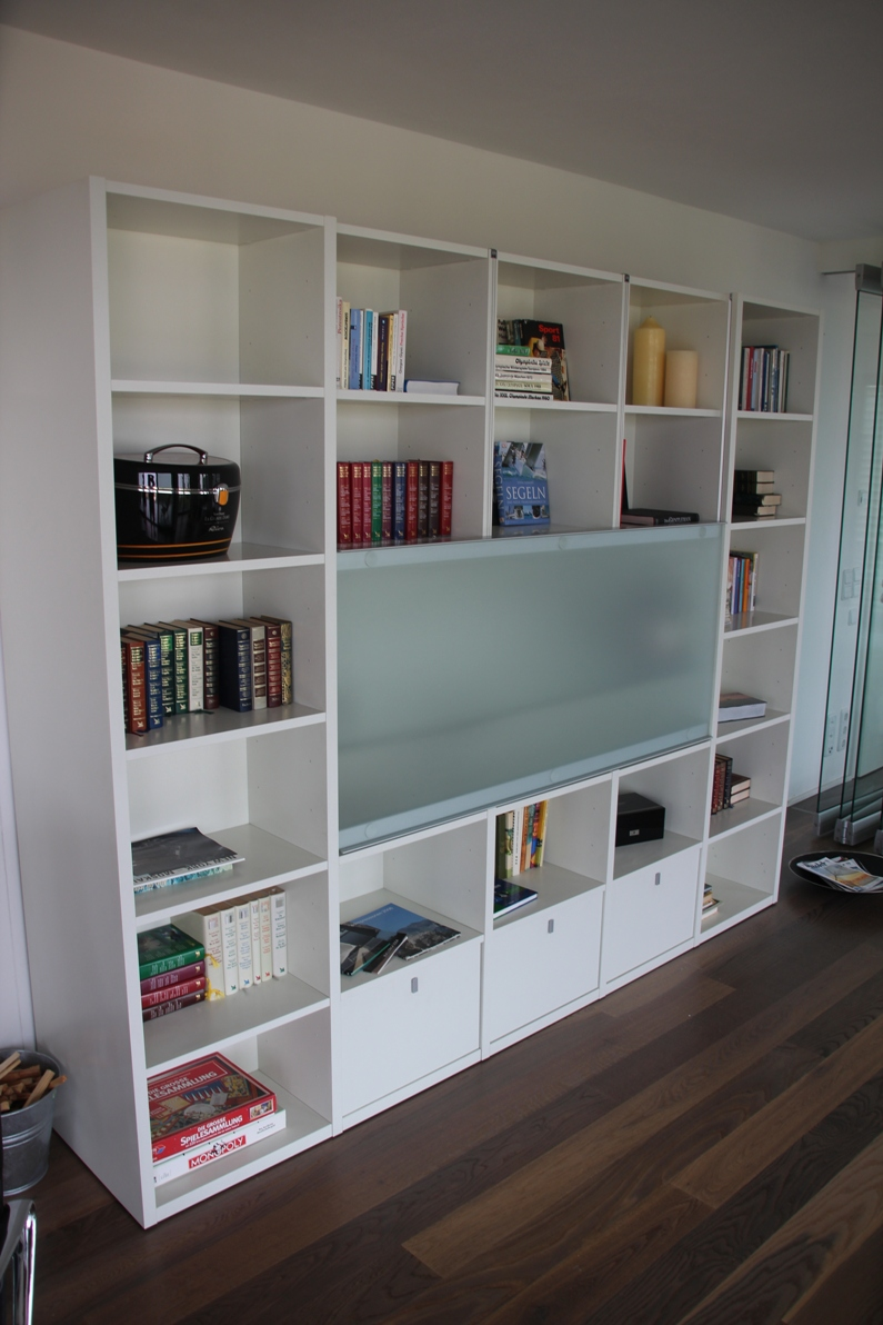 interl bke studimo design wohnwand bar beleuchtet 270 cm regal anbauwand weiss. Black Bedroom Furniture Sets. Home Design Ideas