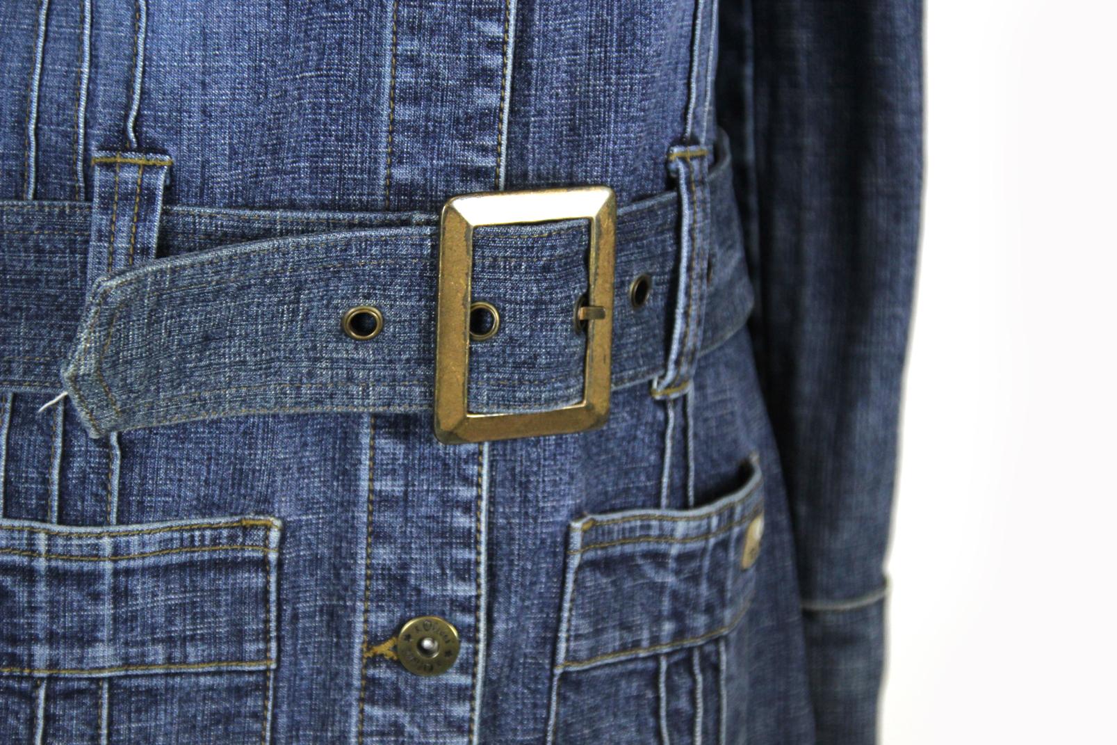 s oliver damen jeansmantel gr 38 blau stretch jeans. Black Bedroom Furniture Sets. Home Design Ideas