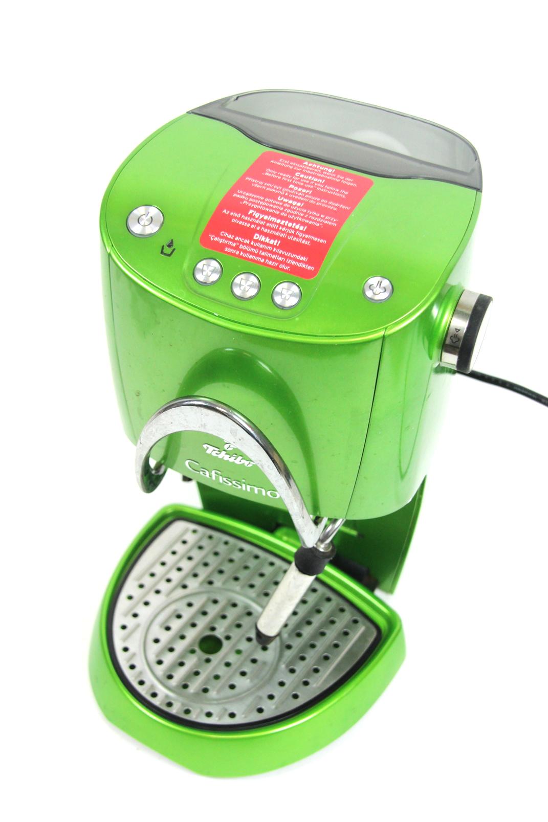 tchibo cafissimo 241565 kaffeemaschine kapselmaschine kaffee automat gr n in ovp ebay. Black Bedroom Furniture Sets. Home Design Ideas