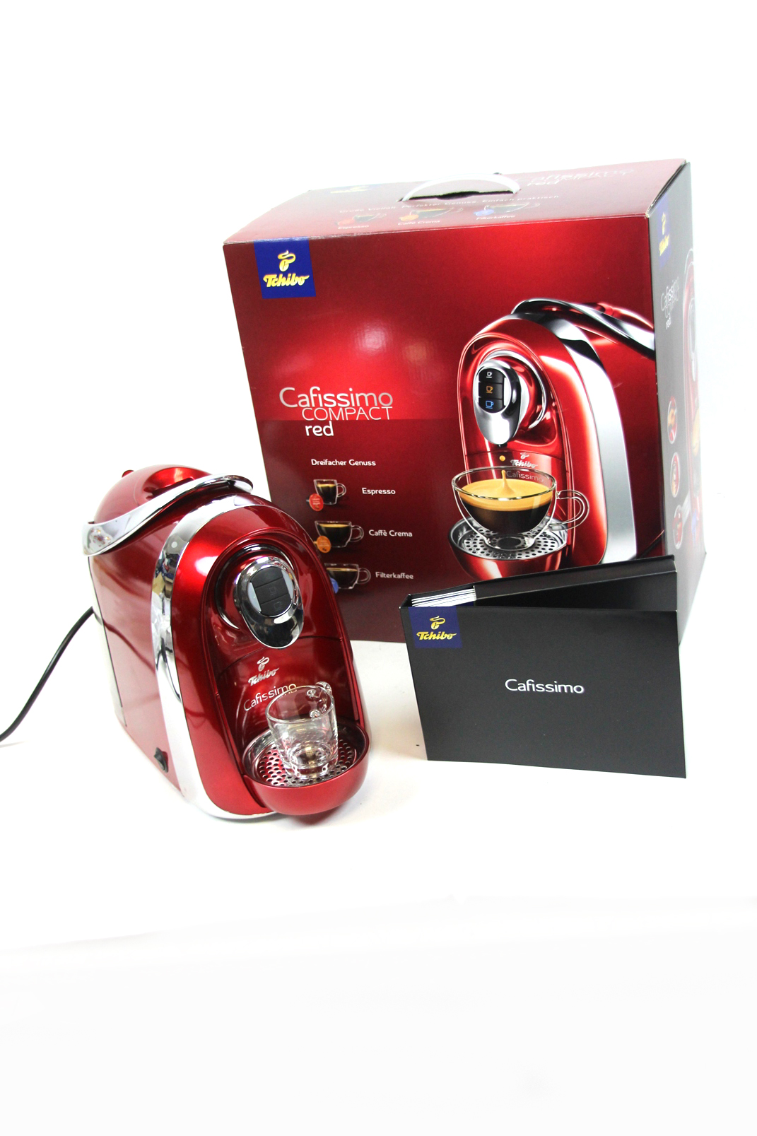 tchibo cafissimo compact red 280997 kapselmaschine. Black Bedroom Furniture Sets. Home Design Ideas