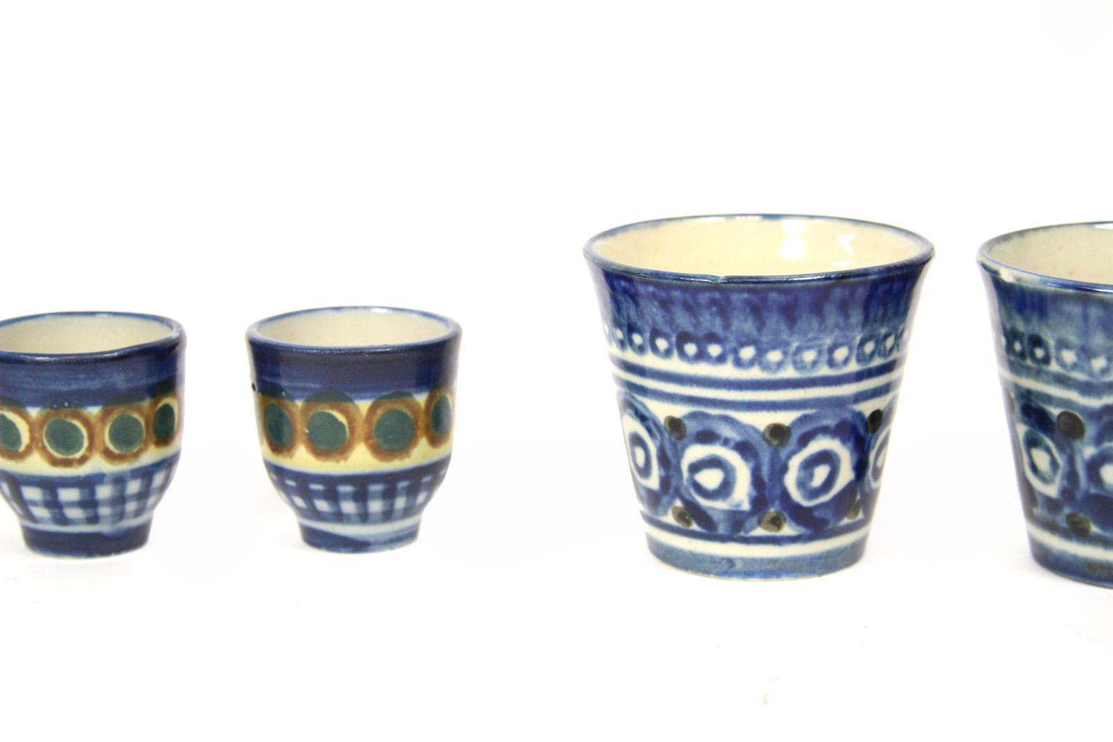 rustikales 24 tlg keramikset pulsnitz lausitzer keramik. Black Bedroom Furniture Sets. Home Design Ideas
