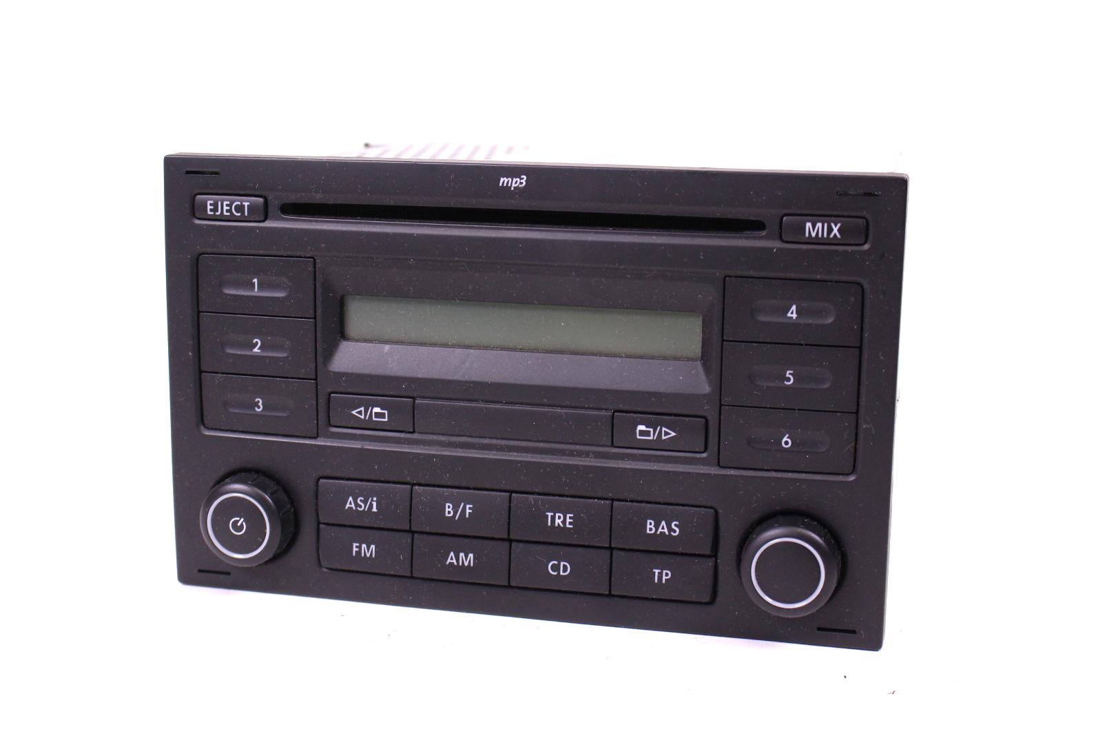 autoradio original vw polo 9n rcd 200 cd radio mit mp3. Black Bedroom Furniture Sets. Home Design Ideas