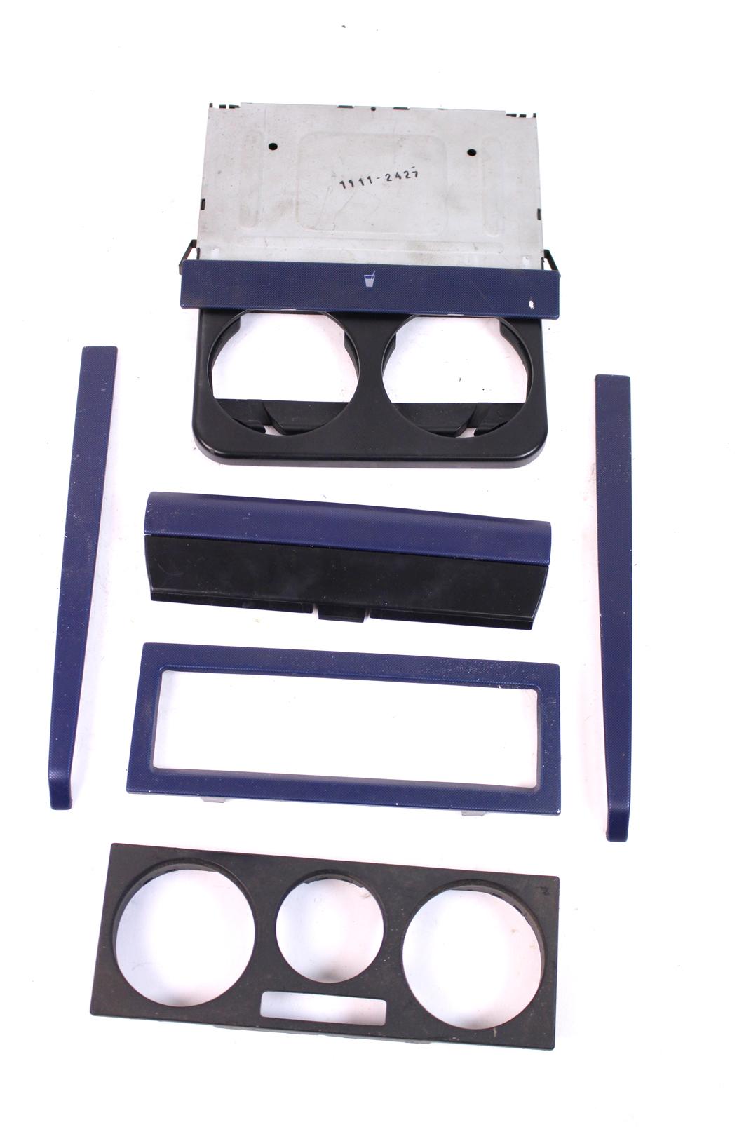 mittelkonsole vw golf iv 4 bora blau getr nkehalter din. Black Bedroom Furniture Sets. Home Design Ideas