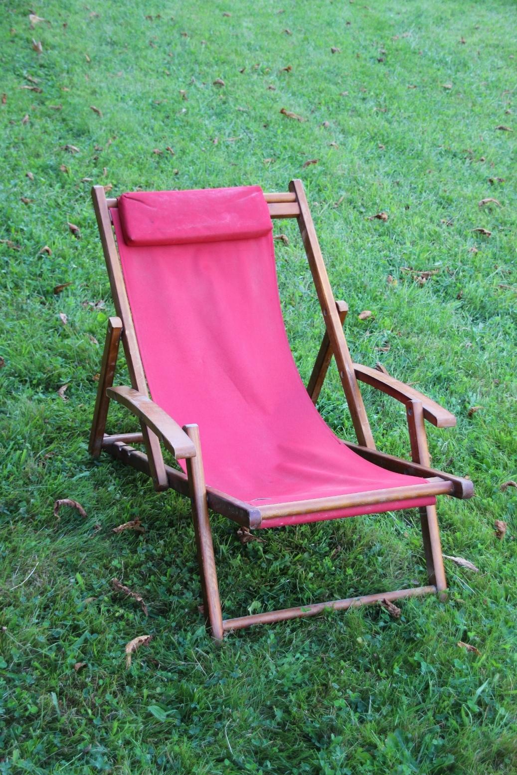 Bequemer living garden liegestuhl mit armlehnen camping garten balkon liege ebay - Liegestuhl camping ...
