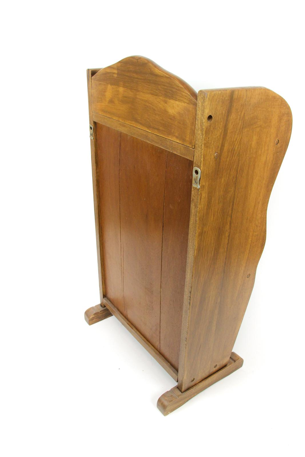 zeitungsst nder rustikal holz massiv ablagefl che zeitungs ablage telefon tisch ebay. Black Bedroom Furniture Sets. Home Design Ideas