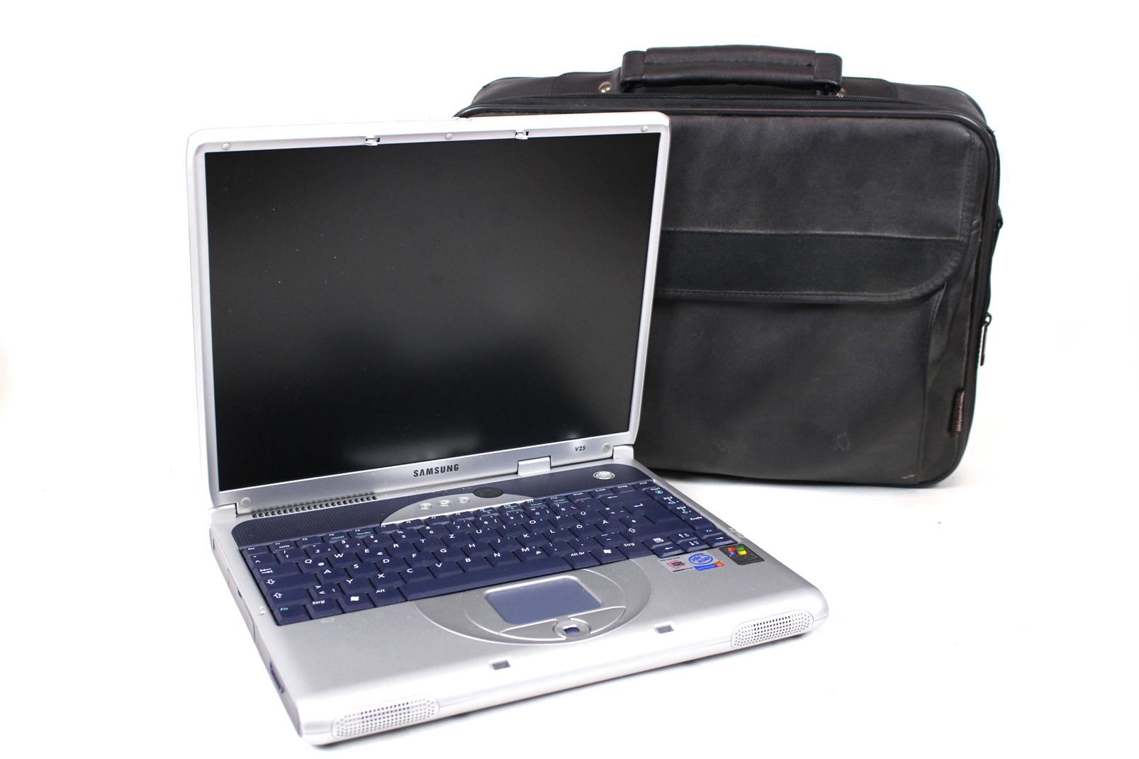 samsung v25 notebook intel pentium 4 ghz cpu 512 mb ram dvd multi laptop ebay. Black Bedroom Furniture Sets. Home Design Ideas
