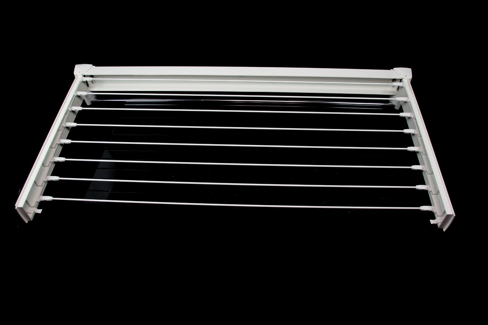 leifheit w schetrockner 102x54 cm wei 8 streben wand w sche trockner halter ebay. Black Bedroom Furniture Sets. Home Design Ideas